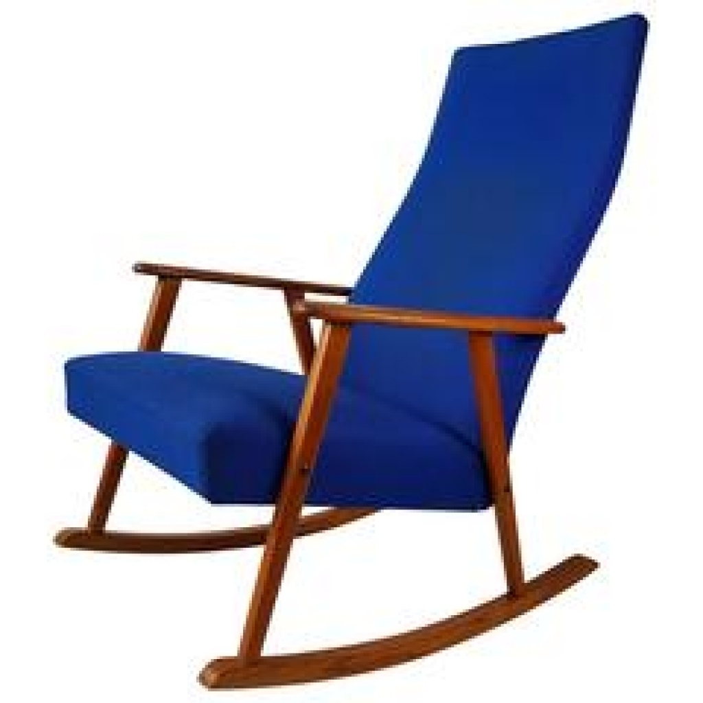 Mid Century Modern Maple Spoke Back Rocking Chair At 1Stdibs Inside Most Recent High Back Rocking Chairs (View 3 of 20)