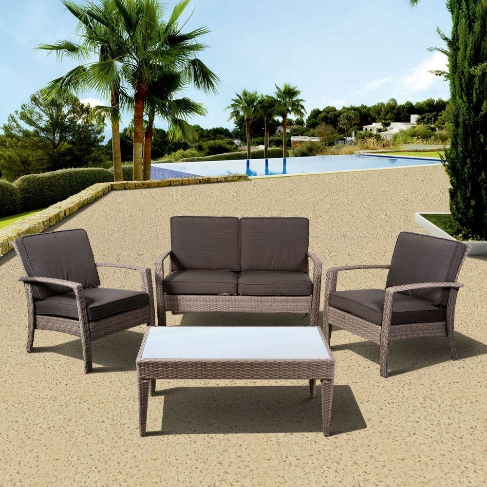 Modern Patio Conversation Sets With Regard To Current Atlantic Contemporary Lifestyle – Patio Conversation Sets – Outdoor (View 8 of 20)