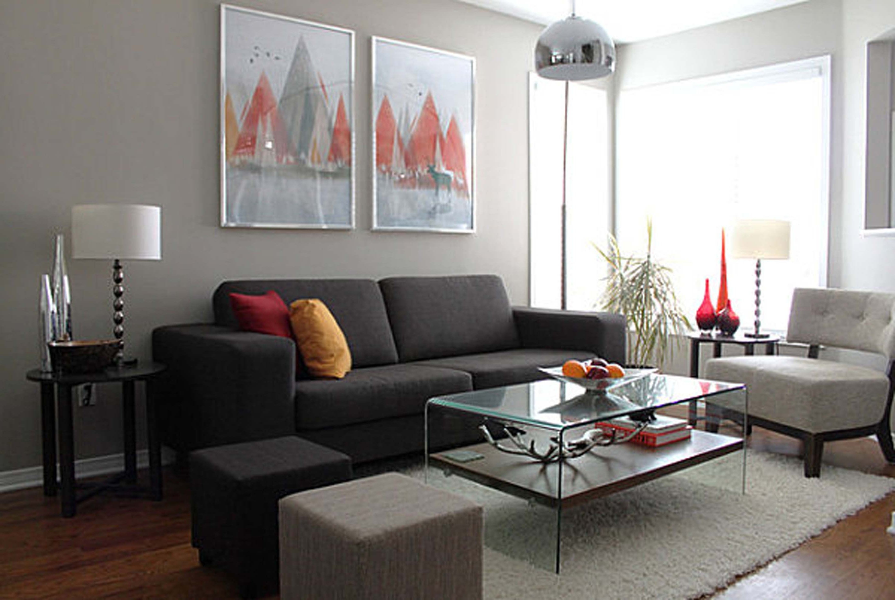 Most Current Grey And White Living Room Ideas Brown Varnished Wood End Table Throughout Brown Living Room Table Lamps (View 12 of 20)