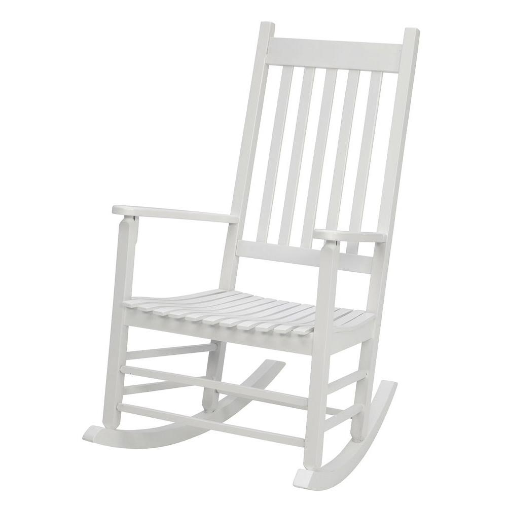 Most Current Jack Post White Mission Patio Rocker 08100877 – The Home Depot Pertaining To Rocking Chairs At Home Depot (View 4 of 20)