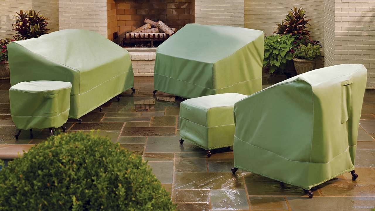 Most Current Patio Conversation Sets With Covers Within Outdoor Covers For Patio Furniture Patio Collection In Green Patio (View 3 of 20)