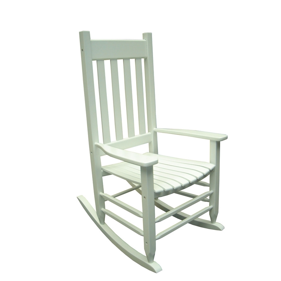 Most Current Rocking Chairs At Lowes Within Livingroom : Shop Garden Treasures White Outdoor Rocking Chair At (View 13 of 20)