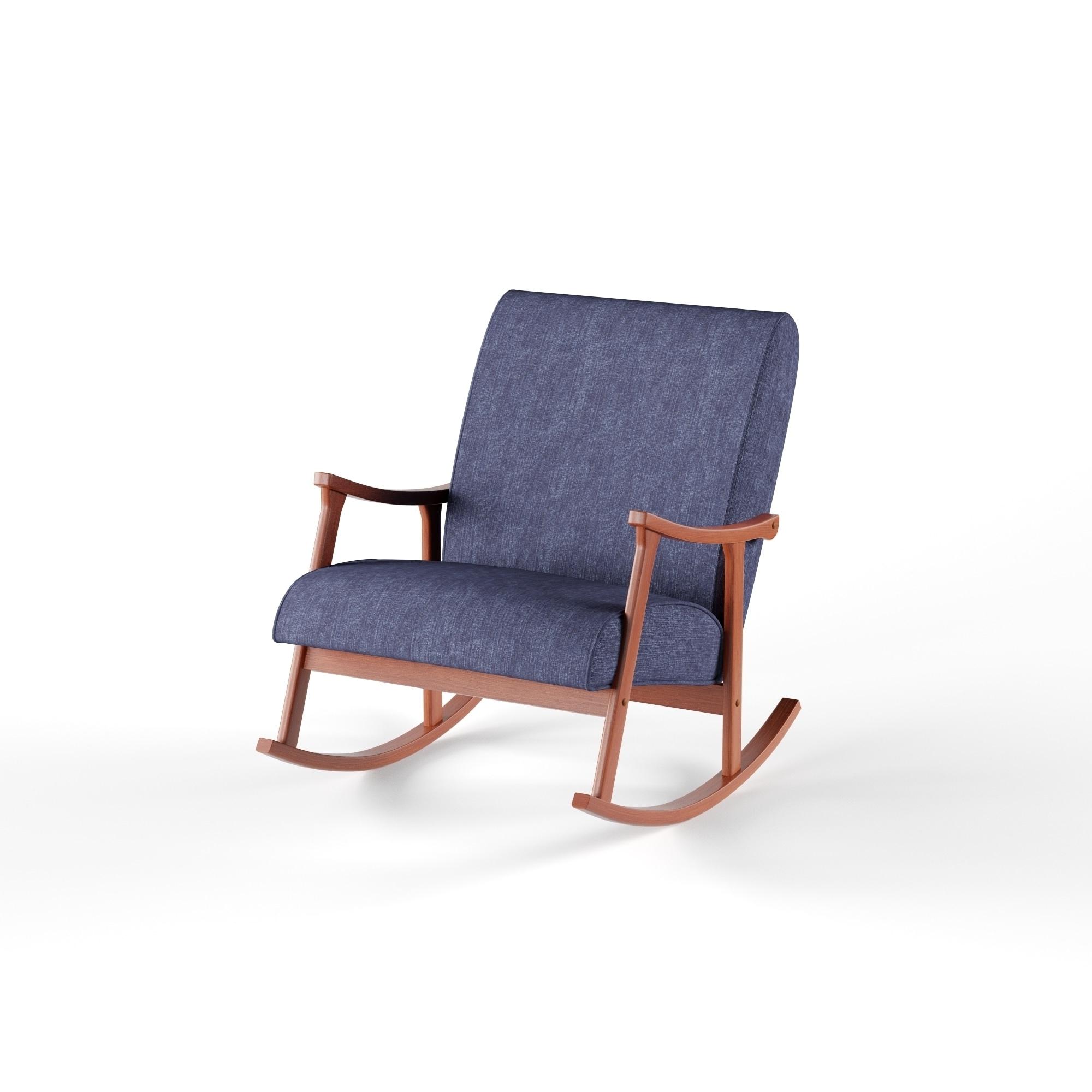 Most Current Shop Carson Carrington Retro Indigo Wooden Rocking Chair – Free Regarding Retro Rocking Chairs (View 8 of 20)