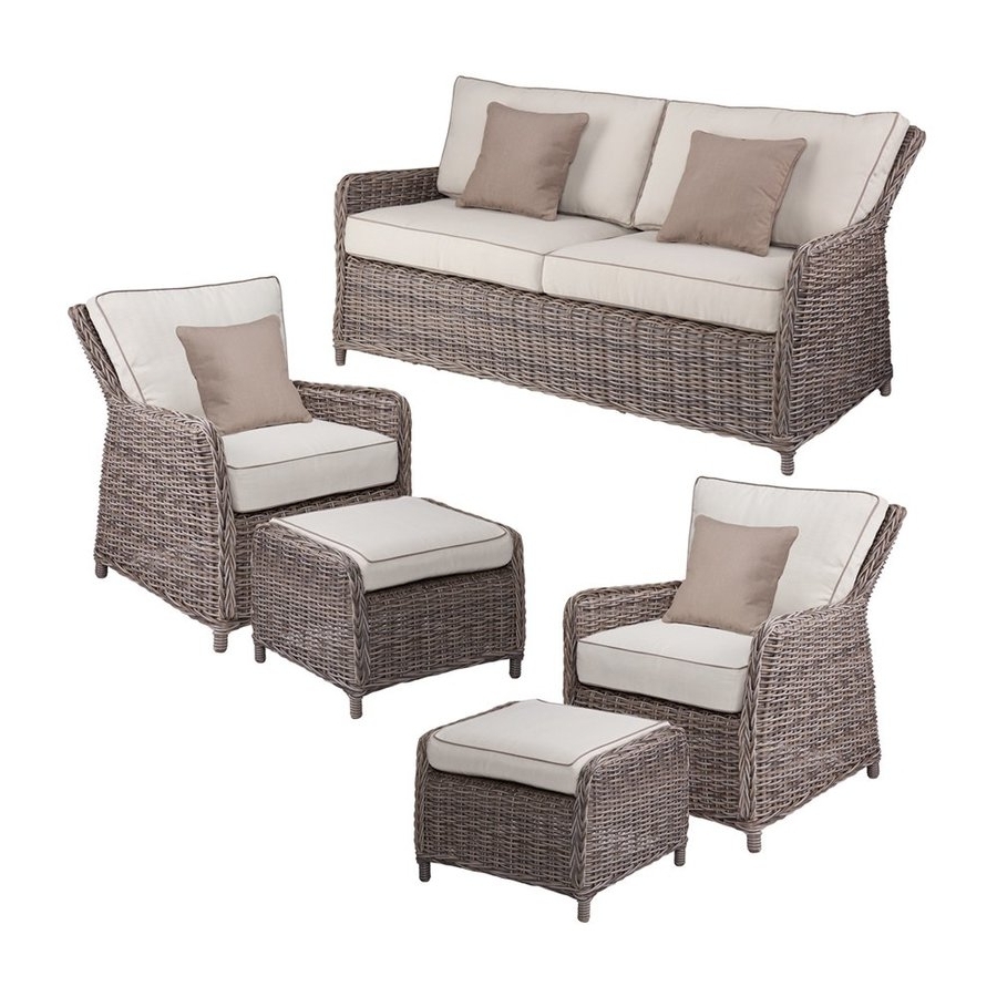 Most Popular 5 Piece Patio Conversation Sets Pertaining To Shop Boston Loft Furnishings Fiona 5 Piece Wicker Frame Patio (View 16 of 20)
