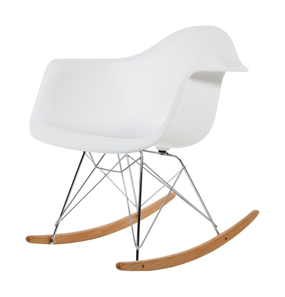 Most Popular Amazon Rocking Chairs For Charles Eames Rar Plastic Rocking Chair – White: Amazon.co (View 15 of 20)