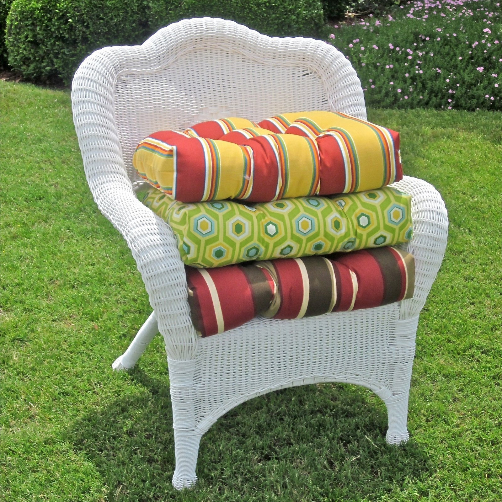 Most Popular Outdoor Wicker Rocking Chairs With Cushions Regarding Blazing Needles 19 X 19 In (View 12 of 20)