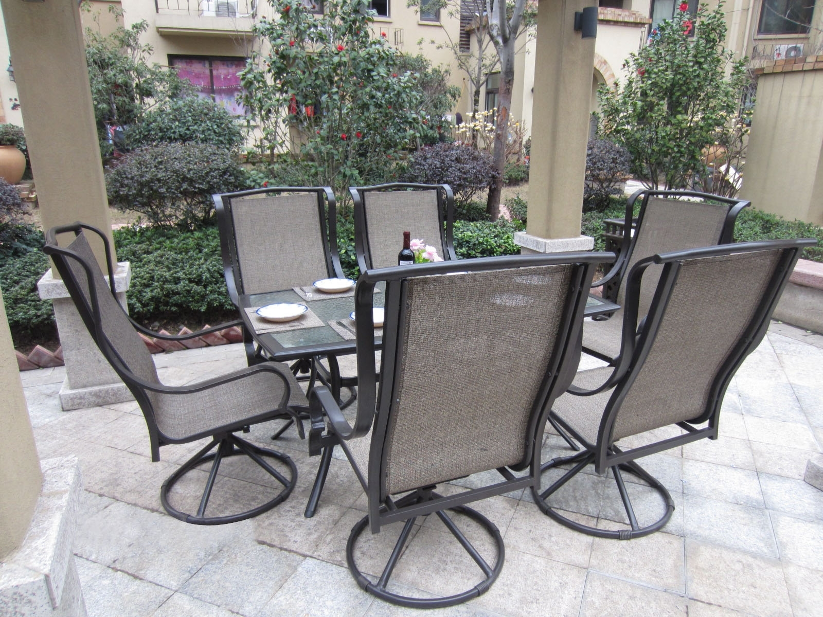 Most Popular Patio Conversation Sets With Rockers In Patio : Small Patio Furniture Beautiful Outdoor Patio Furniture Sets (View 12 of 20)