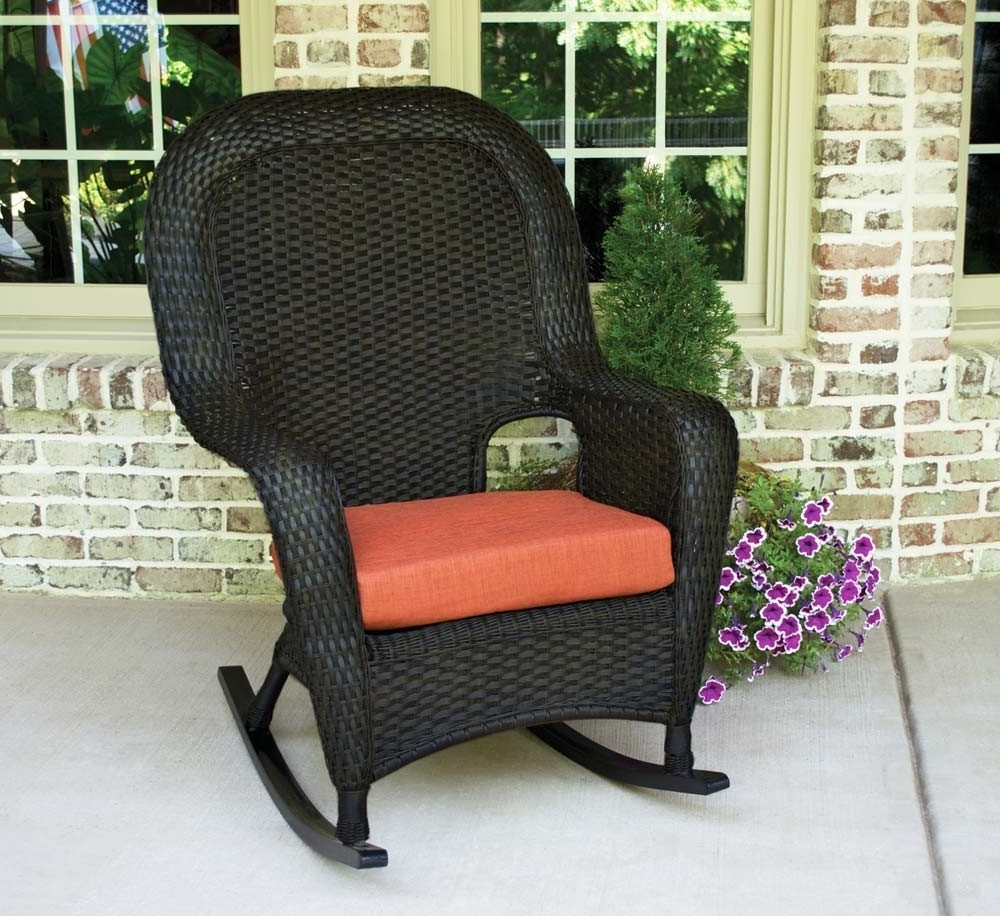 Most Popular Rattan Outdoor Rocking Chairs With Tortuga Outdoor Lexington Wicker Rocker – Wicker (View 4 of 20)