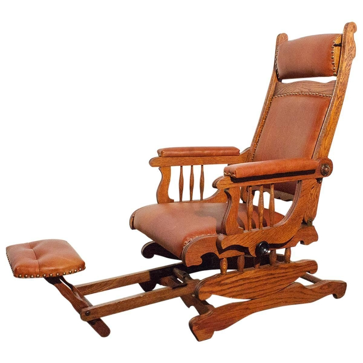 Most Popular Victorian Platform Rocker With Foot Rest, Circa 1890 At 1stdibs Regarding Rocking Chairs With Footstool (View 6 of 20)