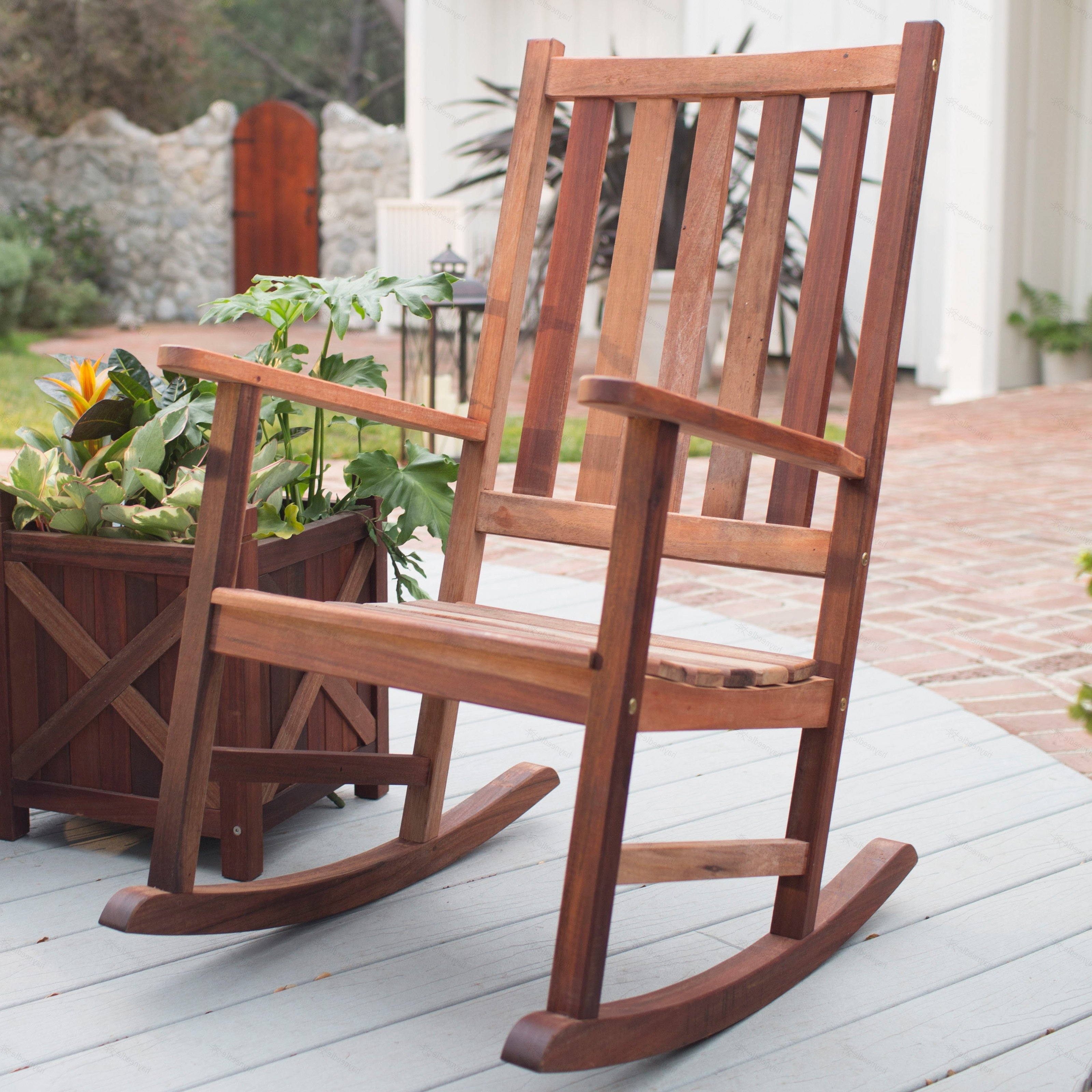 Most Popular Wooden Patio Rocking Chairs Inside Decorating Black Outdoor Rocking Chairs Black Patio Rocking Chair (View 12 of 20)