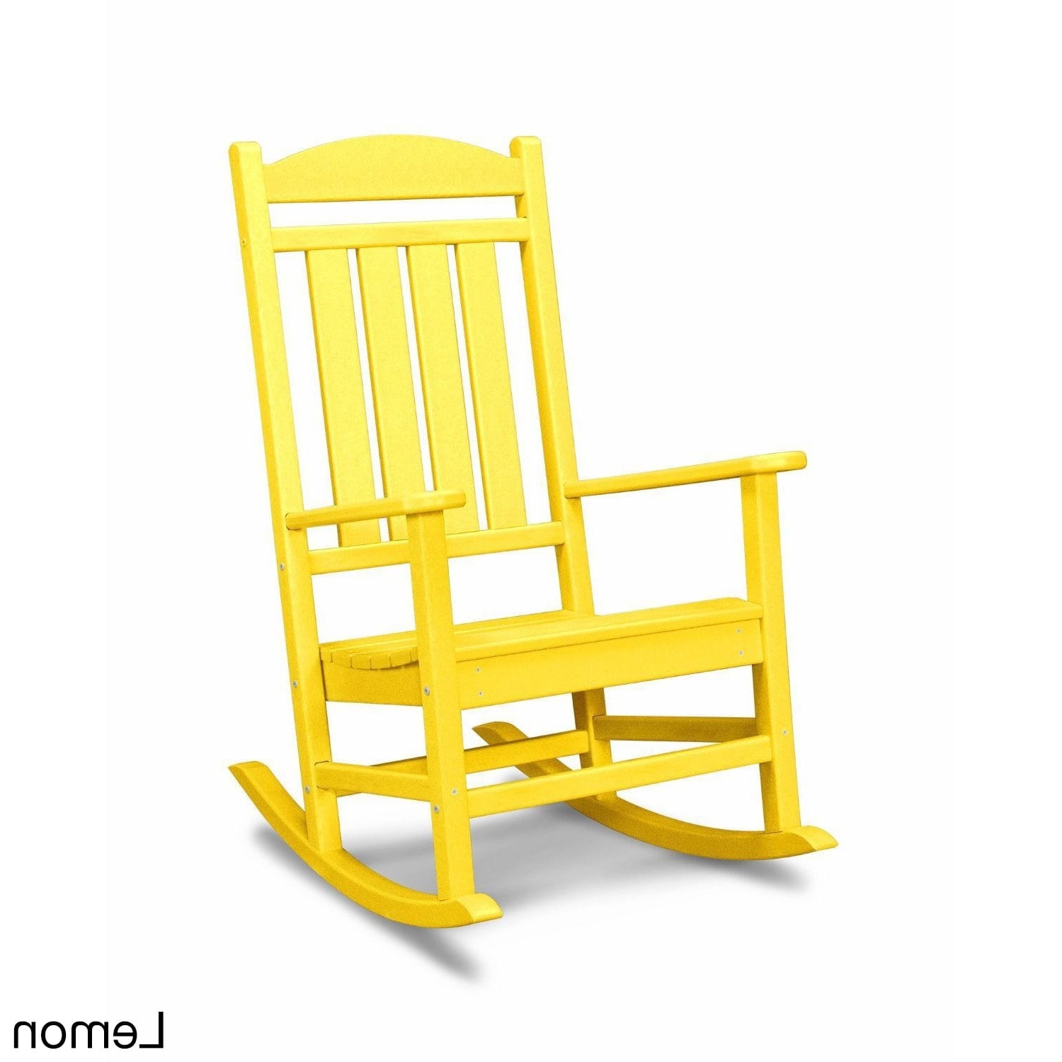 Most Popular Yellow Outdoor Rocking Chairs Within Shop Polywood Presidential Outdoor Rocking Chair – Free Shipping (View 7 of 20)