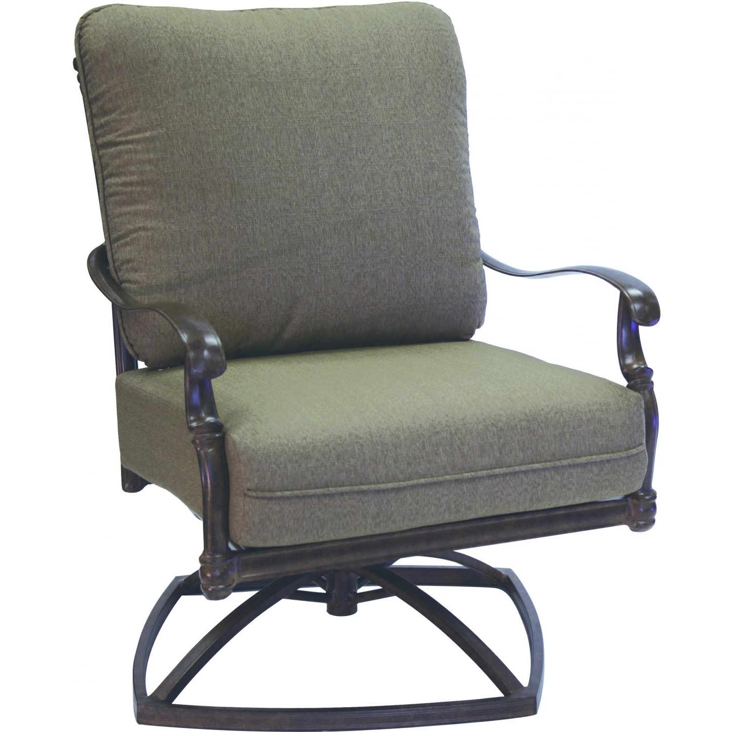 Most Recent Aluminum Patio Rocking Chairs Intended For Furniture: Inspirational Swivel Rocker Patio Chair With Outdoor (View 9 of 20)