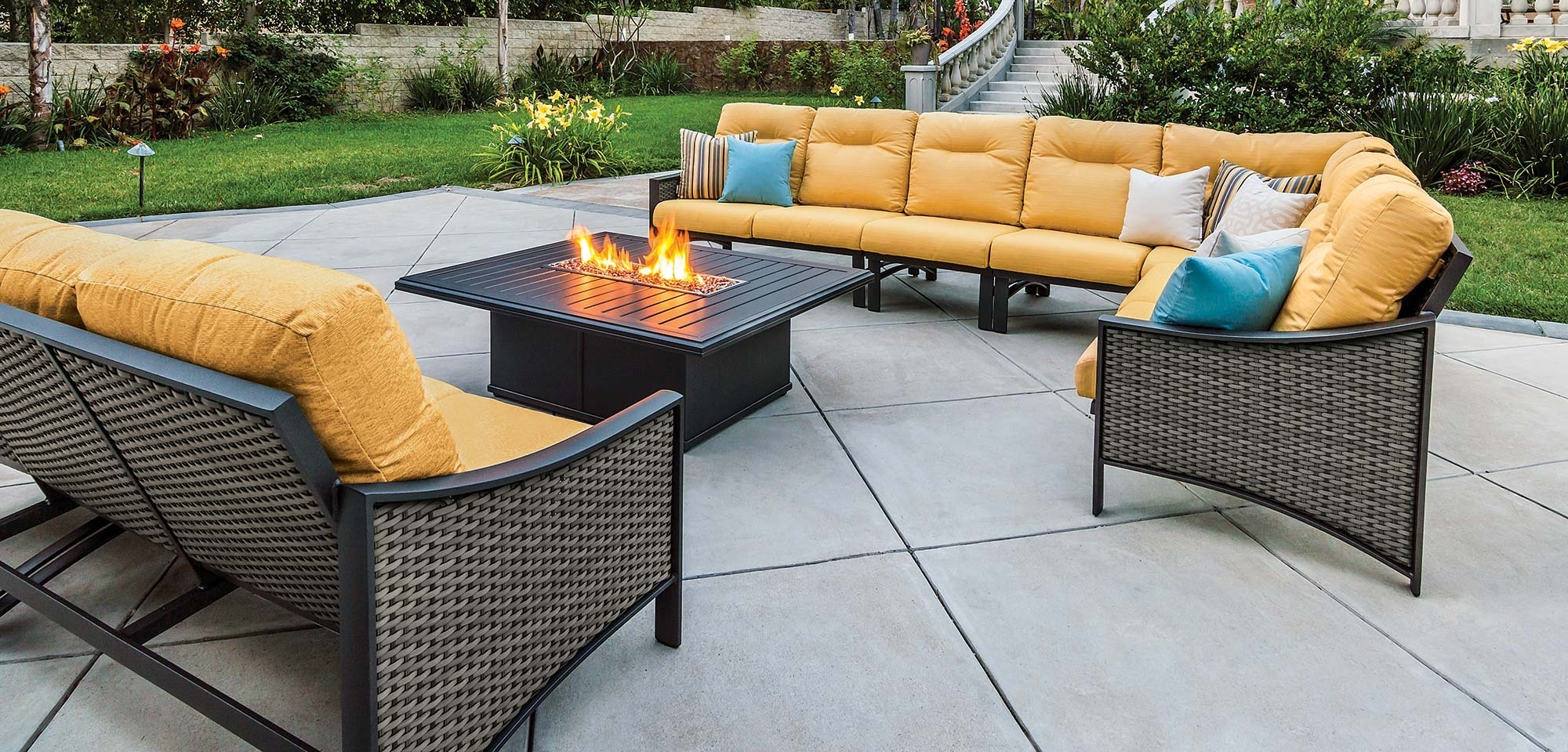 Most Recent Inexpensive Patio Conversation Sets Throughout Engaging Cheap Patio Sectional 13 Outdoor Sofa Furniture All Weather (View 4 of 20)