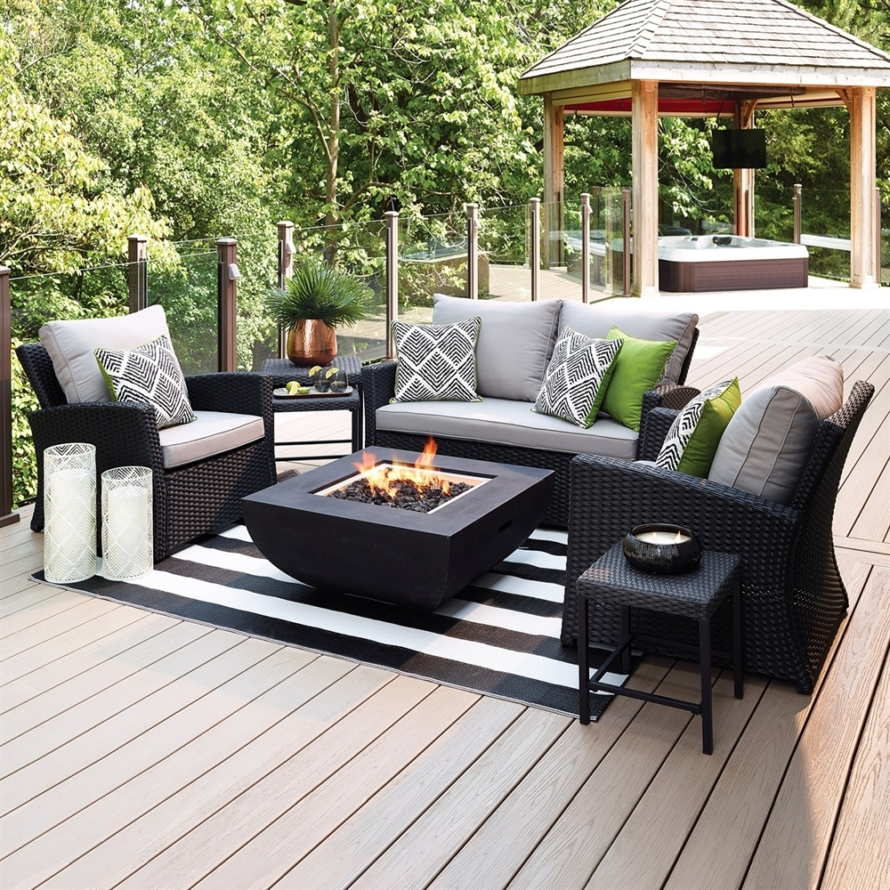 Most Recent Lowes Patio Furniture Conversation Sets For Outdoor & Patio Conversation Sets (View 13 of 20)
