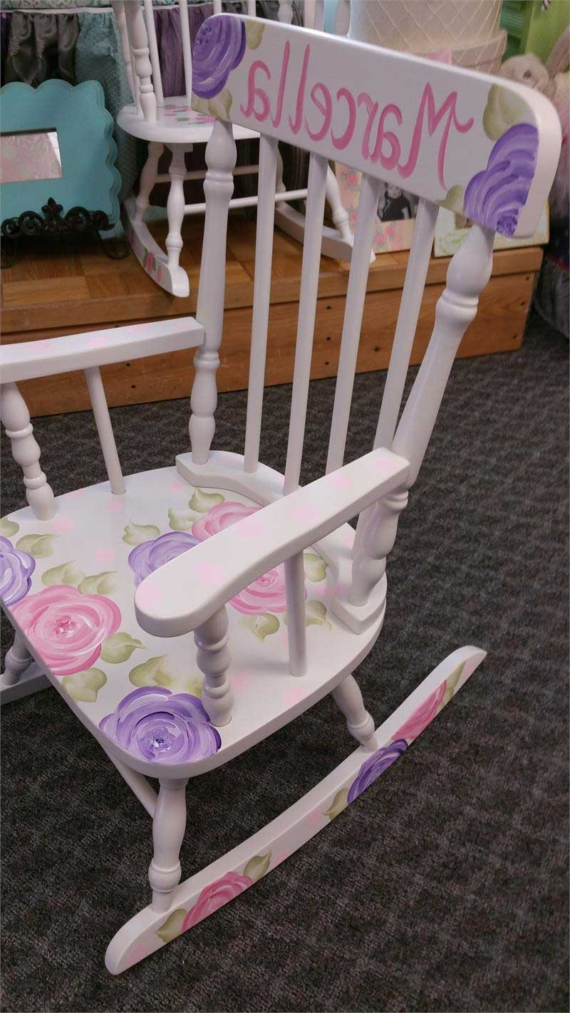 Most Recent Mod Roses Personalized Rocking Chair – Purple Pumpkin Gifts Inside Rocking Chairs At Roses (View 9 of 20)