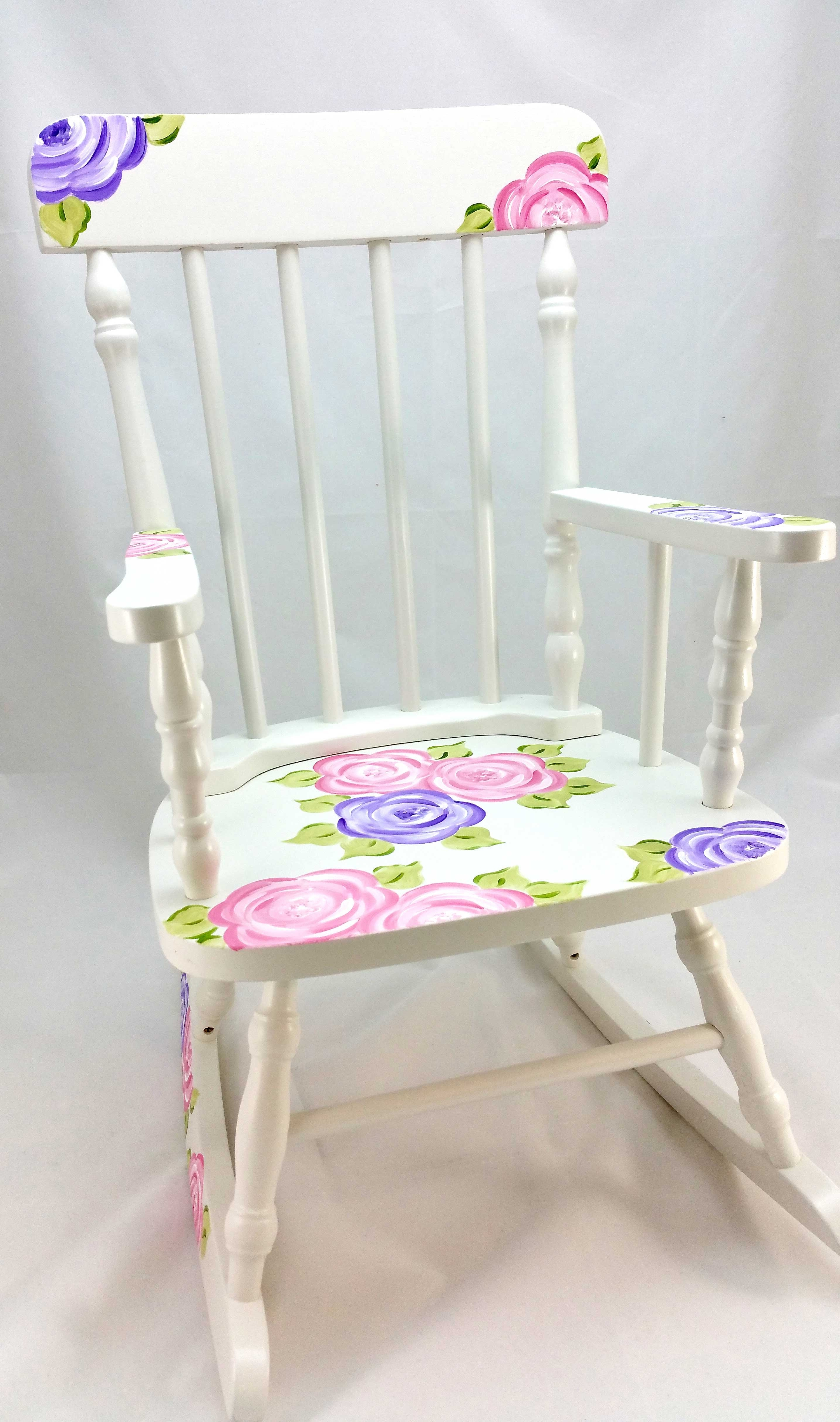 Most Recent Mod Roses Personalized Rocking Chair – Purple Pumpkin Gifts Inside Rocking Chairs At Roses (View 5 of 20)
