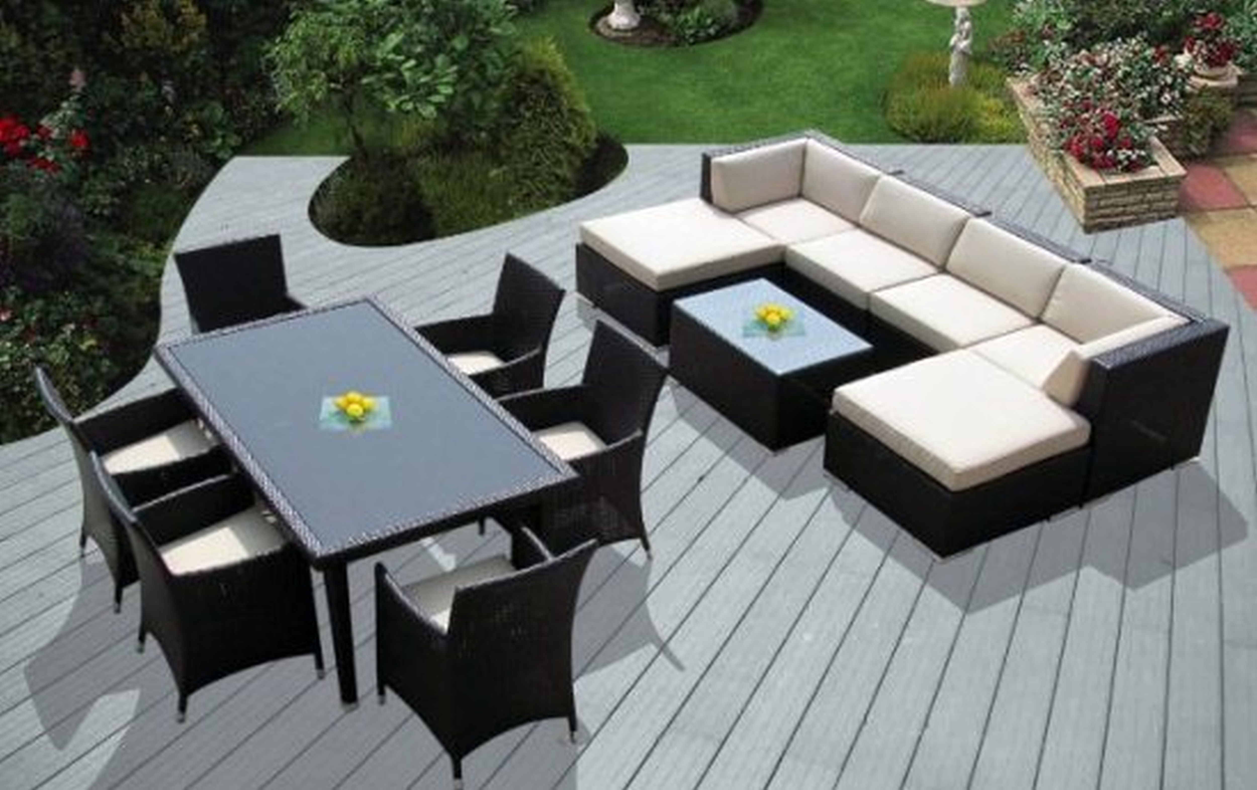 Most Recent Modern Patio Conversation Sets Inside Chair : Top Outdoor Patio Furniture Sectional And Wicker Deep Seat (View 7 of 20)