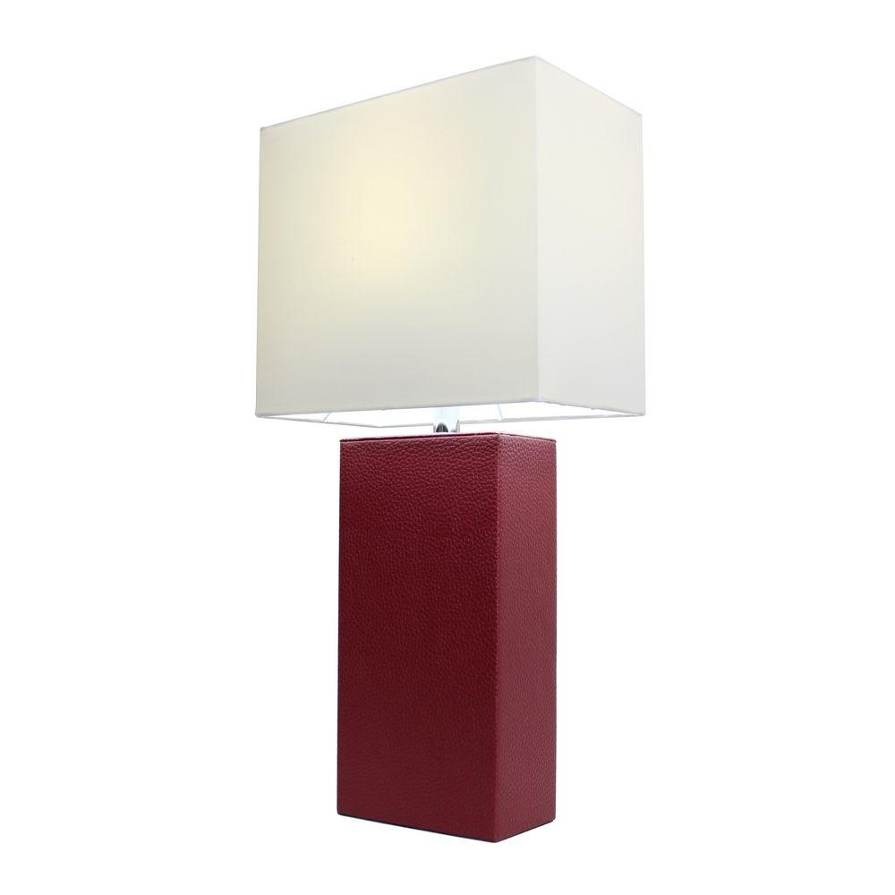 Most Recent Red Living Room Table Lamps With Elegant Designs Monaco Avenue 21 In (View 12 of 20)