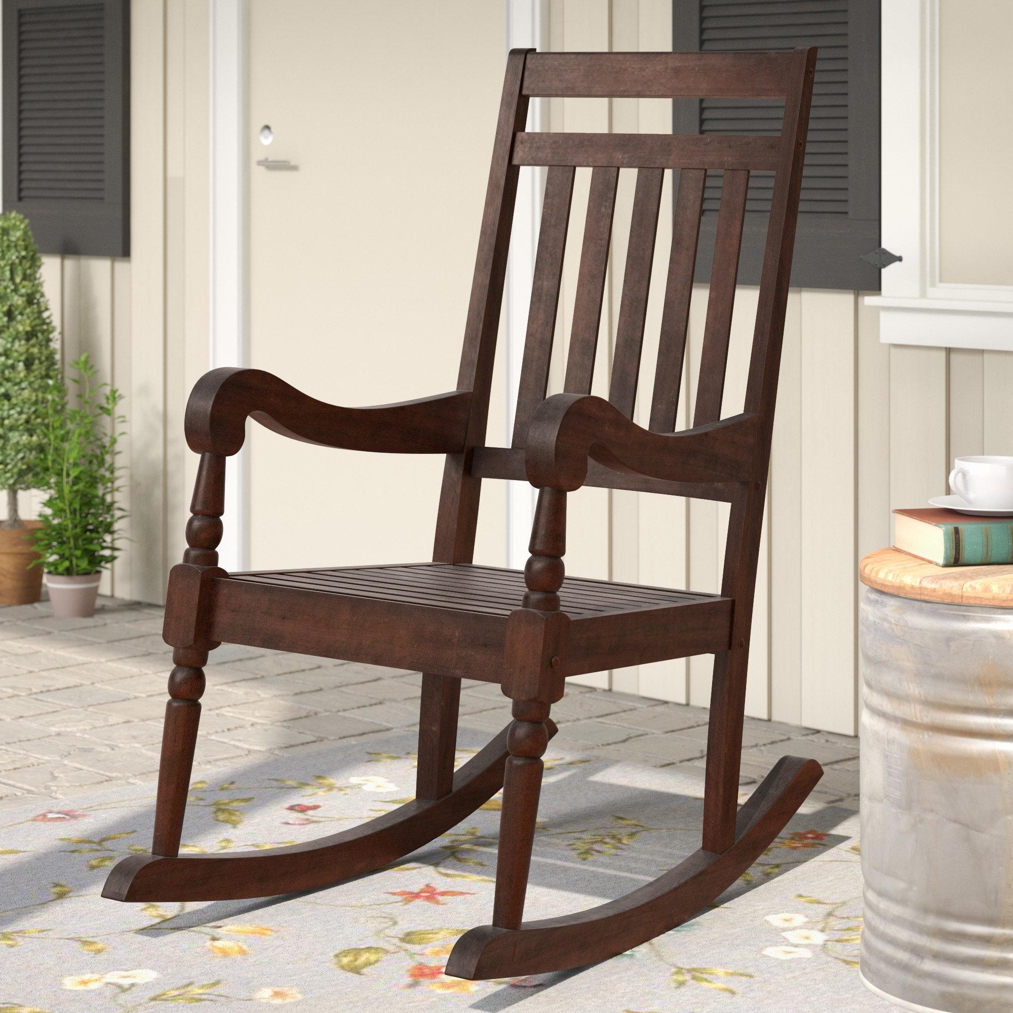 Most Recent Rocking Chairs At Wayfair Throughout Laurel Foundry Modern Farmhouse Glen Ullin Modern Rocking Chair (View 12 of 20)
