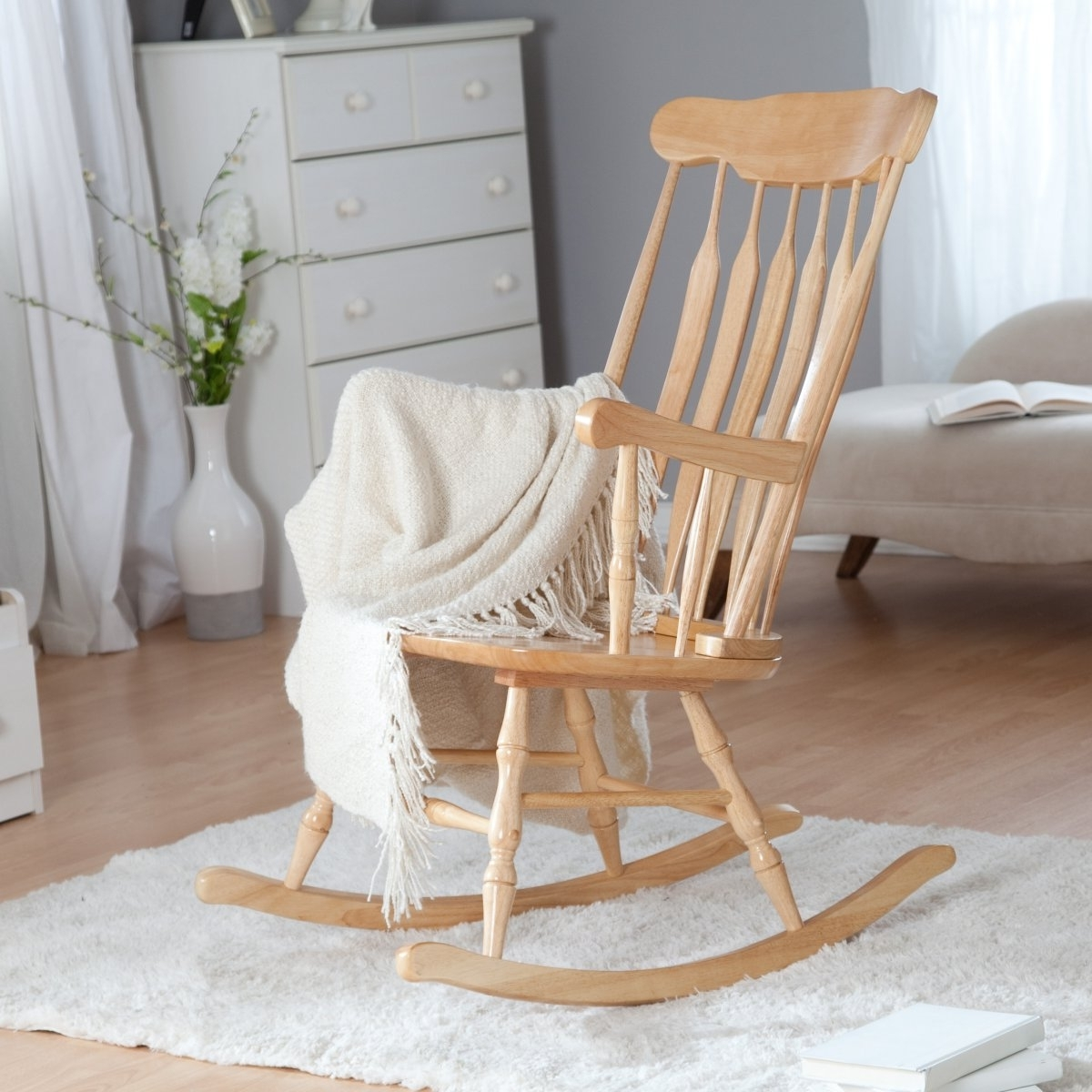 Most Recent Rocking Chairs For Baby Room Inside Living Room Furniture : Rocking Chairs For Baby Nursery Wooden (View 6 of 20)