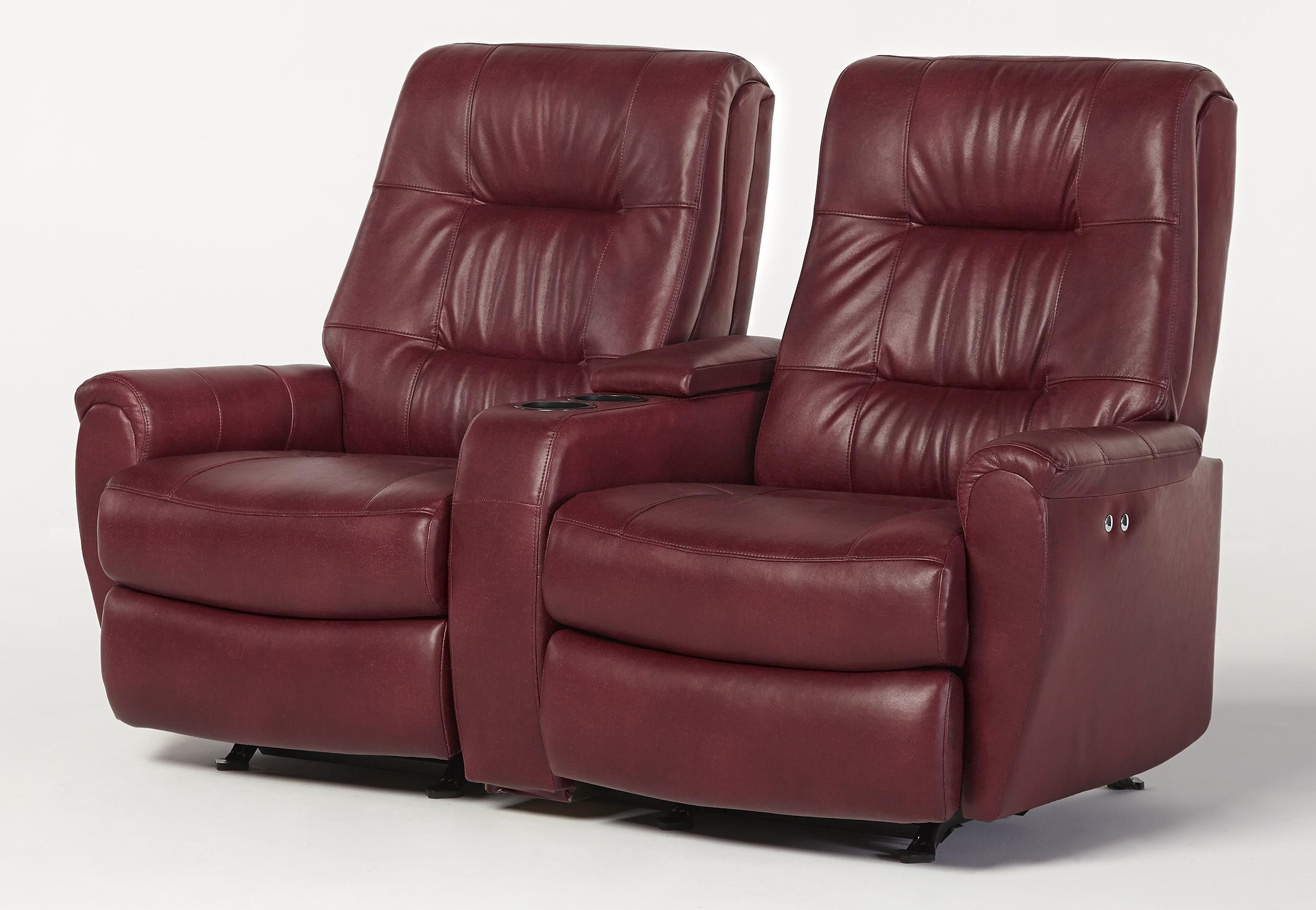 Most Recent Rocking Chairs For Small Spaces Throughout Small Scale Power Reclining Space Saver Loveseat With Drink And (View 16 of 20)