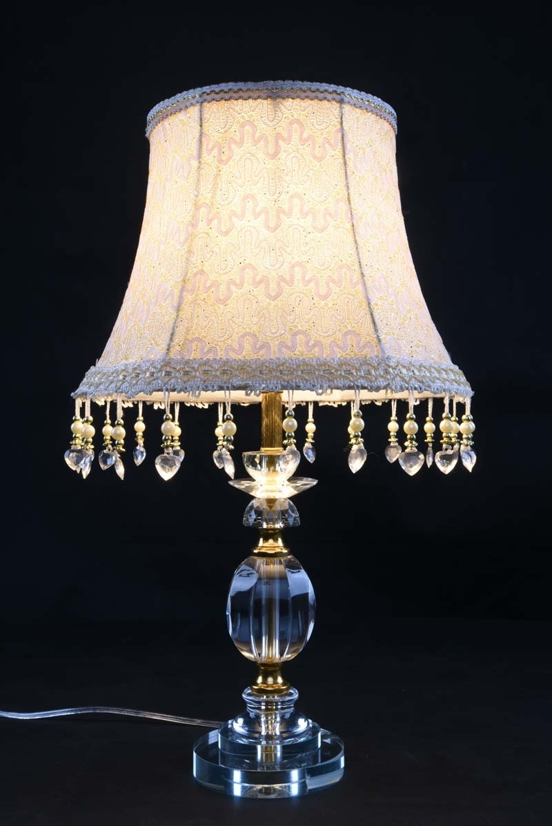 Most Recent Table Lamp Ideas: Clear Table Lamp Vintage Crystal Shade Fabric Inside Clear Table Lamps For Living Room (View 16 of 20)