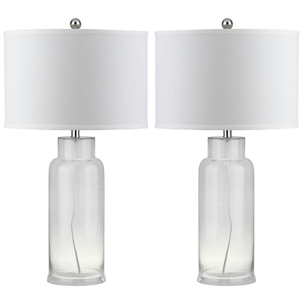 Most Recently Released Clear Table Lamps For Living Room Regarding Safavieh Bottle 29 In (View 14 of 20)