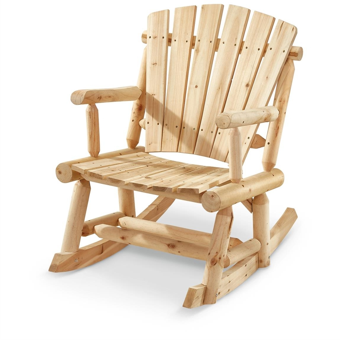 Most Recently Released Oversized Patio Rocking Chairs Intended For Castlecreek Oversized Adirondack Rocker – 657797, Patio Furniture At (View 5 of 20)