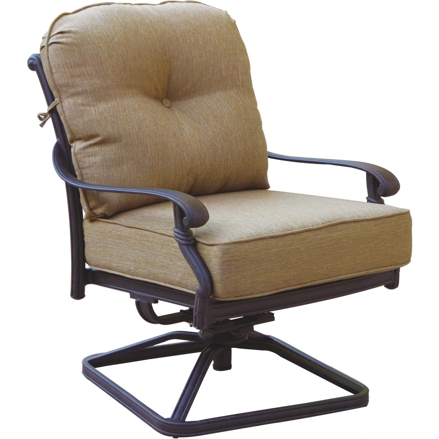 Most Recently Released Patio Rocking Swivel Chairs With Darlee Santa Monica Cast Aluminum Patio Swivel Rocker Club Chair (View 1 of 20)