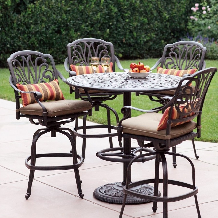 Most Recently Released Patio Table: Lowes Mesh Patio Table Lowes Outdoor Patio Table Set Within Patio Conversation Sets At Lowes (View 9 of 20)