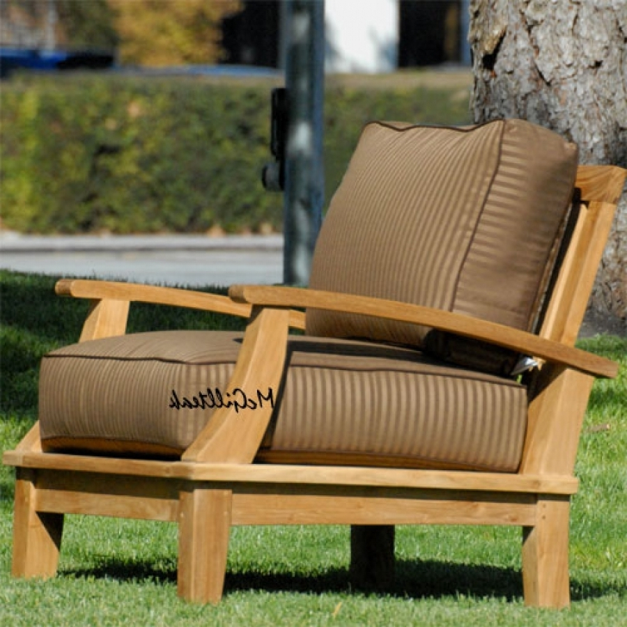 Most Recently Released Teak Patio Rocking Chairs In Teak Outdoor Patio Deep Seating Lounge Chair – Bali Lounge Chair (View 6 of 20)