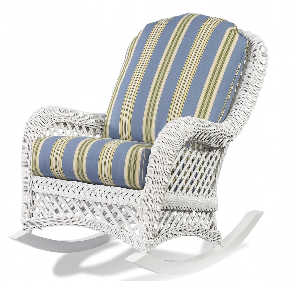 Most Recently Released Wicker Rocking Chairs With Cushions Intended For Vintage Patio Decoration With Wicker Rocking Chair Cushion Patio (View 8 of 20)