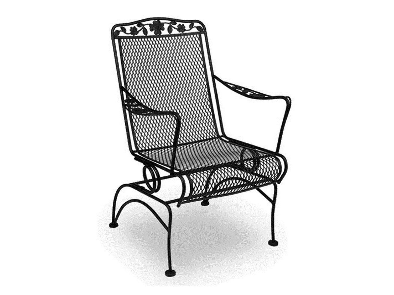 2019 Latest Wrought Iron Patio Rocking Chairs