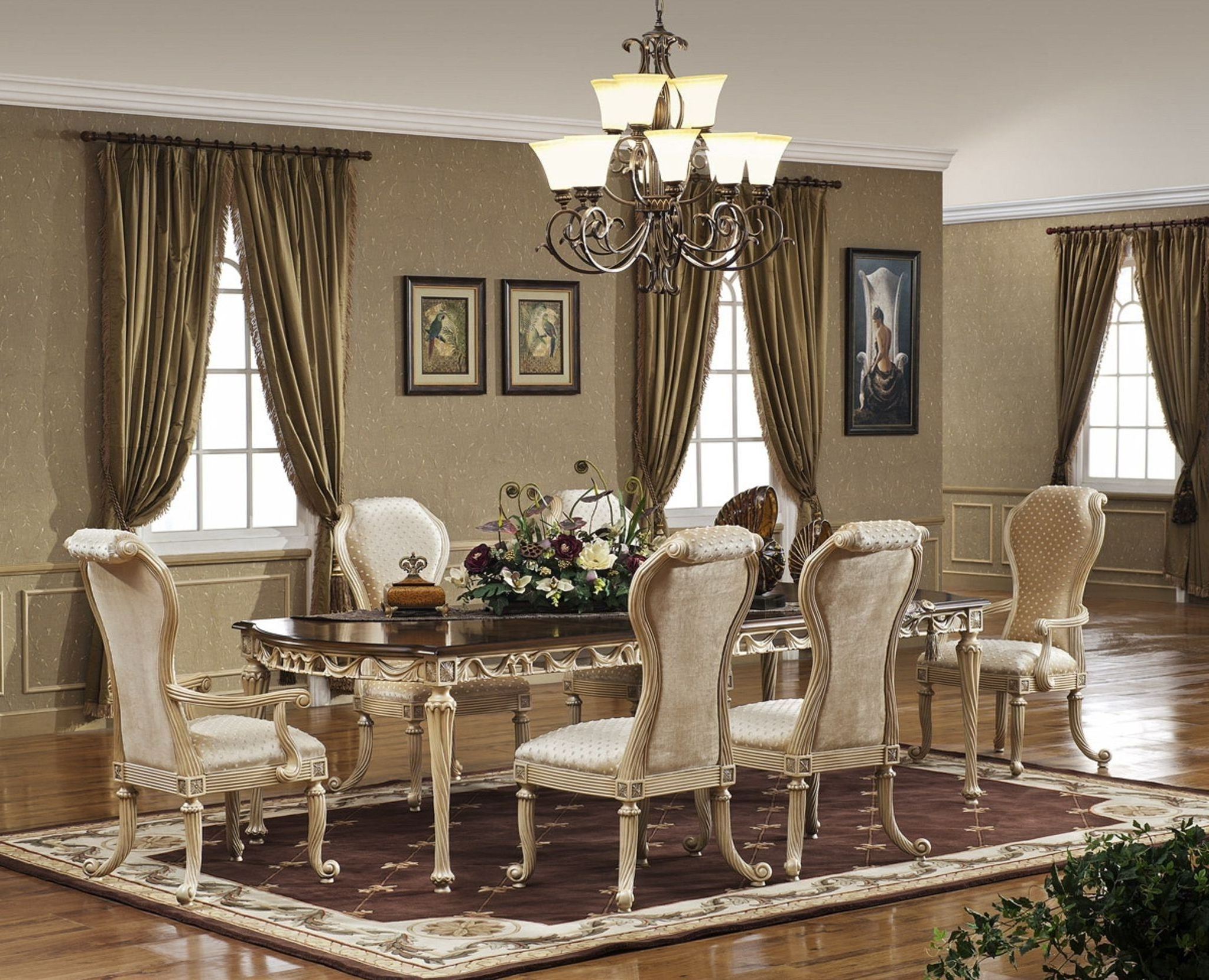 Most Up To Date Dining Table Rug Walmart Rectangle Brown Minimalist Varnished Wood Pertaining To Elegant Living Room Table Lamps (View 5 of 20)