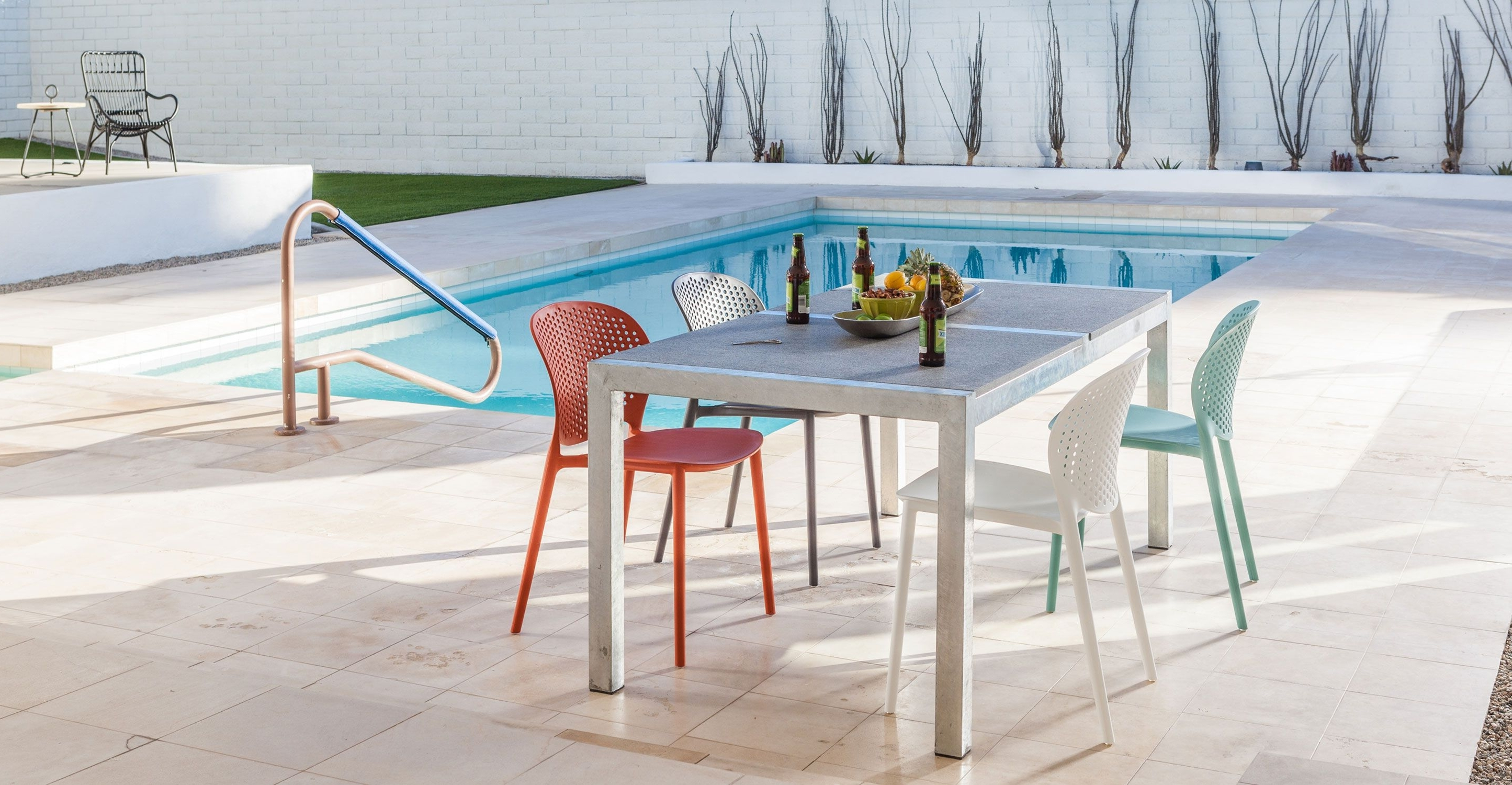 Most Up To Date Dot Patio Conversation Sets Intended For Orange Outdoor Dining Chair – Article Dot Modern Outdoor Furniture (View 15 of 20)