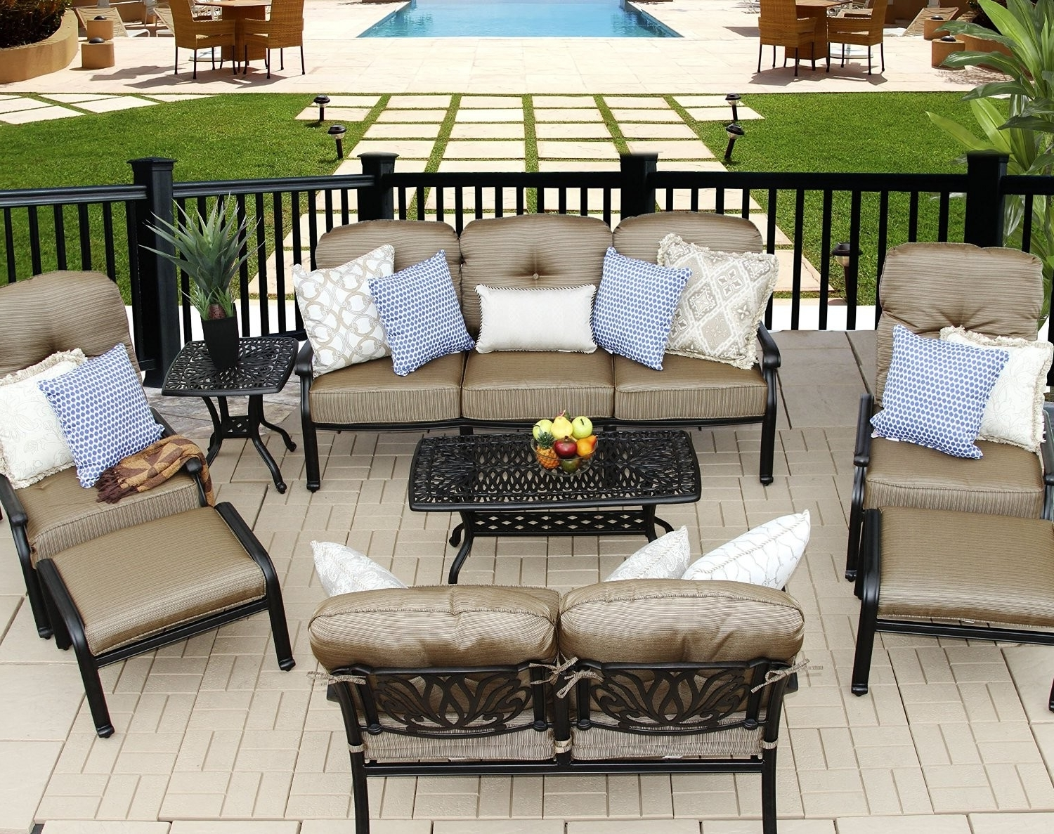 Most Up To Date Elisabeth 8Pc Deep Seating Set – 1 Sofa, 1 Loveseat, 2 Adjustable Regarding Patio Conversation Sets With Ottomans (View 10 of 20)