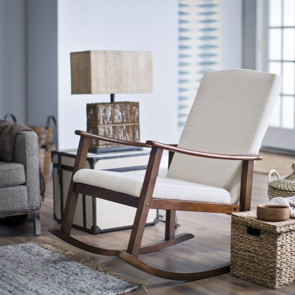 Most Up To Date Epic Upholstered Rocking Chair And Ottoman A97f In Fabulous With Regard To Rocking Chairs For Small Spaces (View 17 of 20)