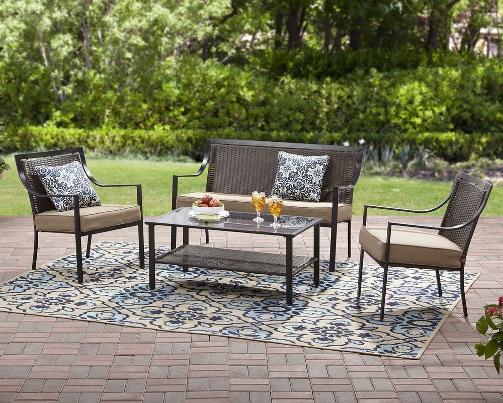 Most Up To Date Garden 7Pc Metal Conversation Pillows Set Outdoor Coffee Table In Ebay Patio Conversation Sets (View 16 of 20)