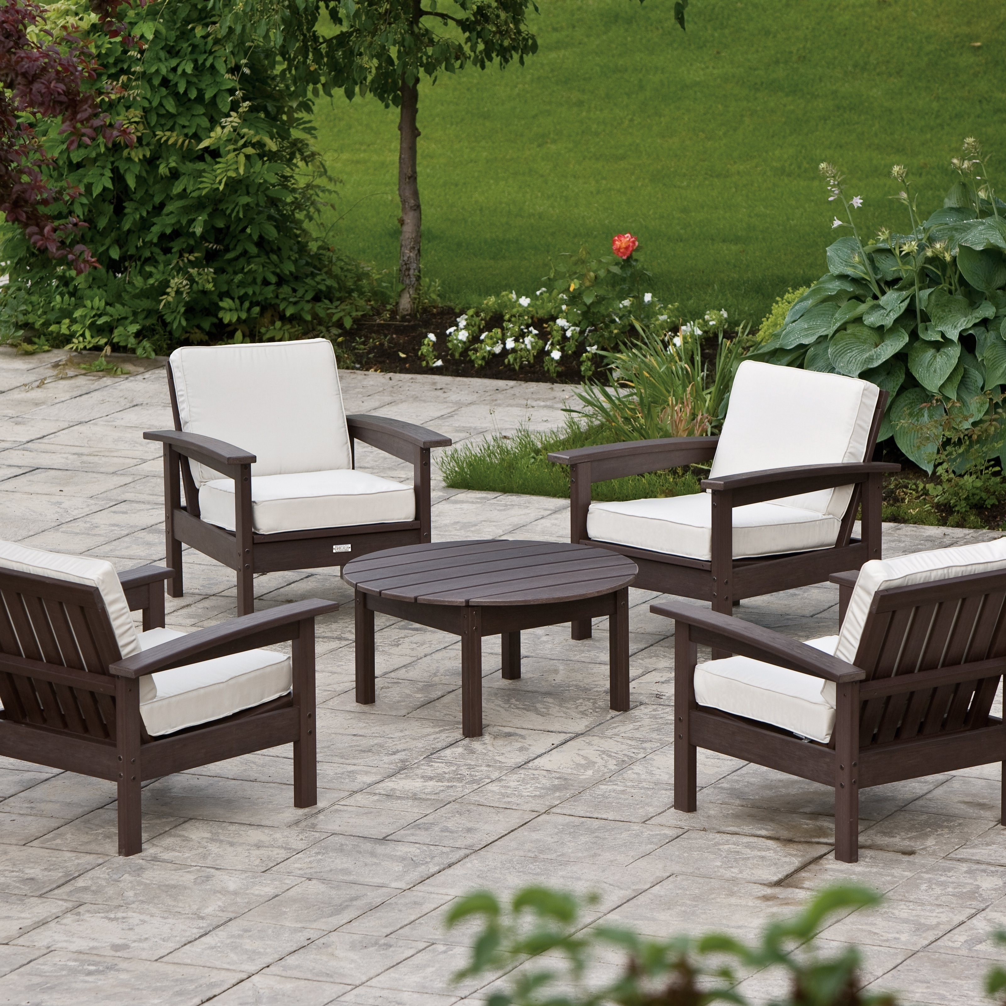 Most Up To Date Outdoor Patio Furniture Without Cushions – Furniture Designs For Patio Conversation Sets Without Cushions (View 9 of 20)
