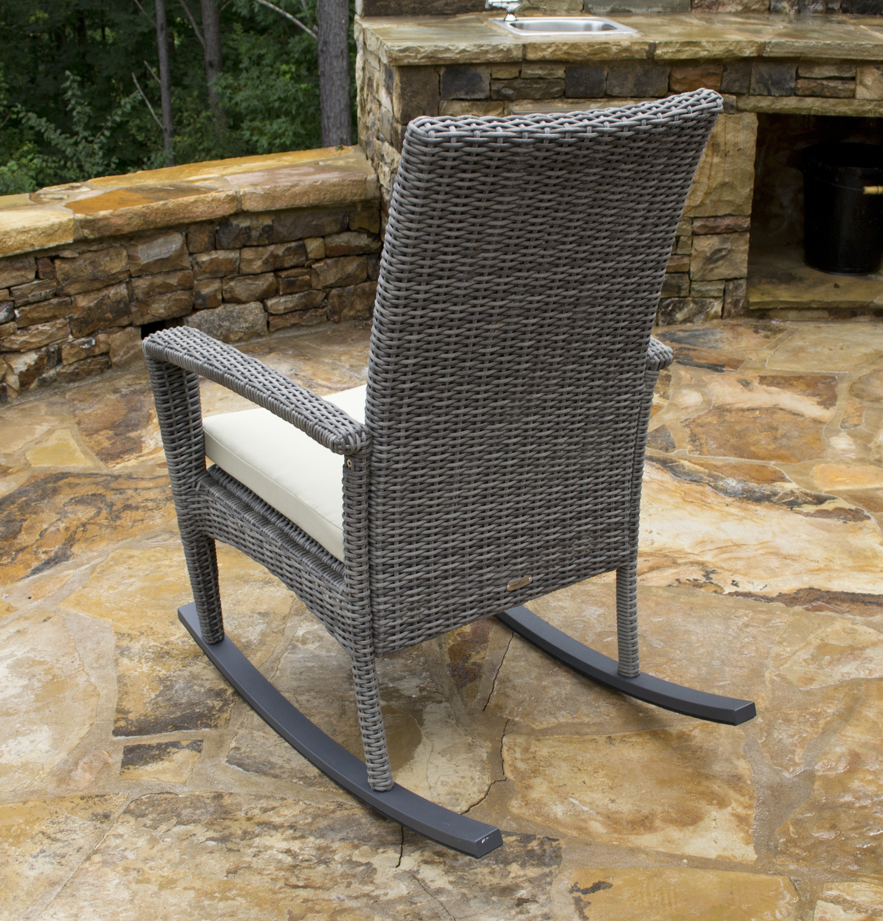 Most Up To Date Outdoor Wicker Rocking Chair – Bayview Rocker Set Within Wicker Rocking Chairs Sets (View 18 of 20)
