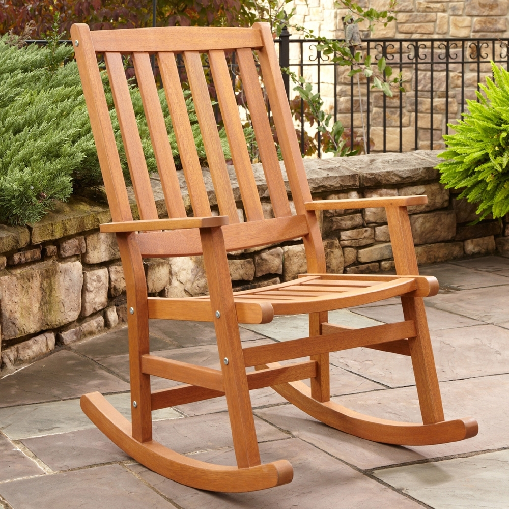 Most Up To Date Patio Rocking Chairs Wood : Spectacular And Sensational Patio In Outdoor Patio Rocking Chairs (View 7 of 20)