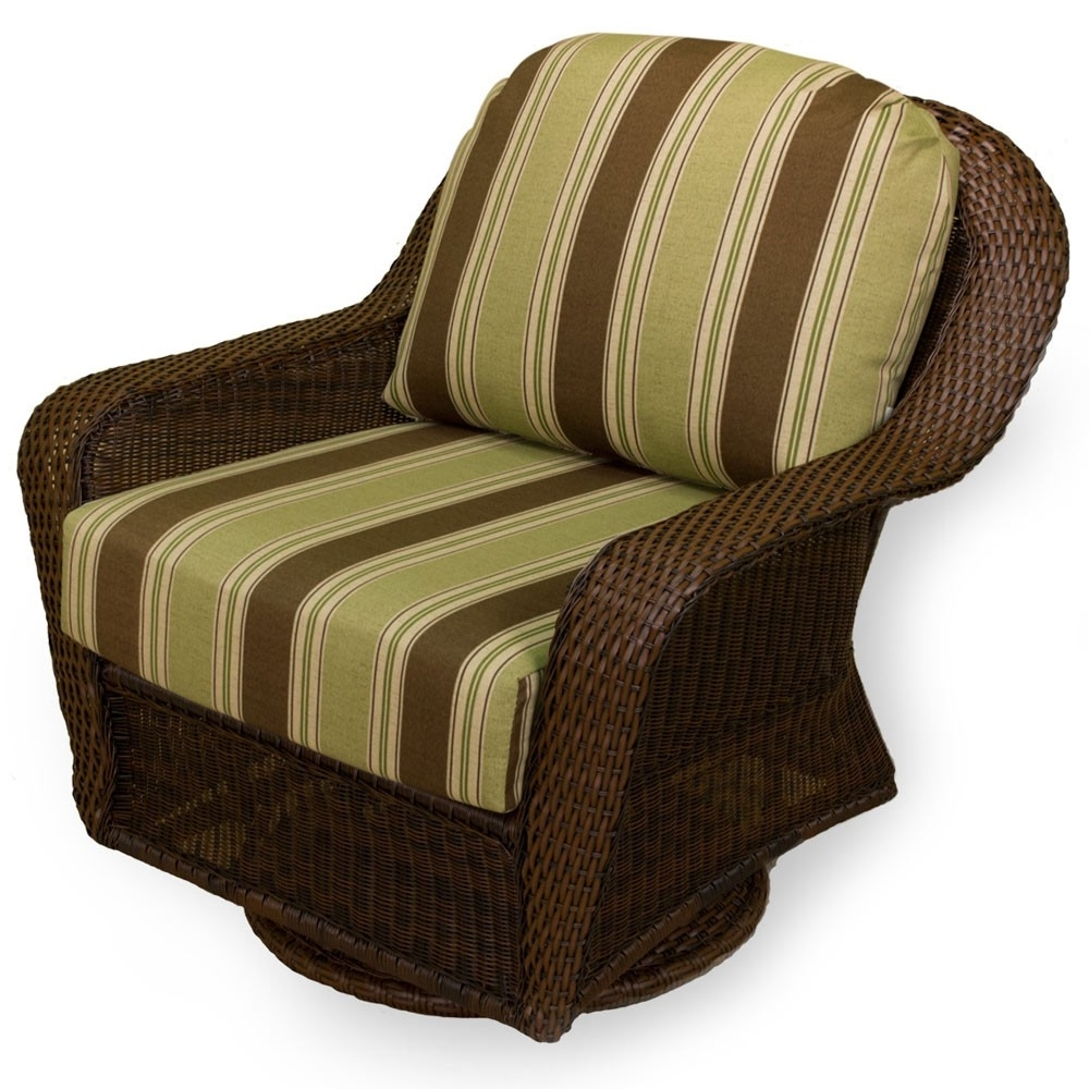 Most Up To Date Patio Rocking Swivel Chairs Intended For Tortuga Outdoor Lexington Wicker Swivel Glider – Wicker (View 9 of 20)