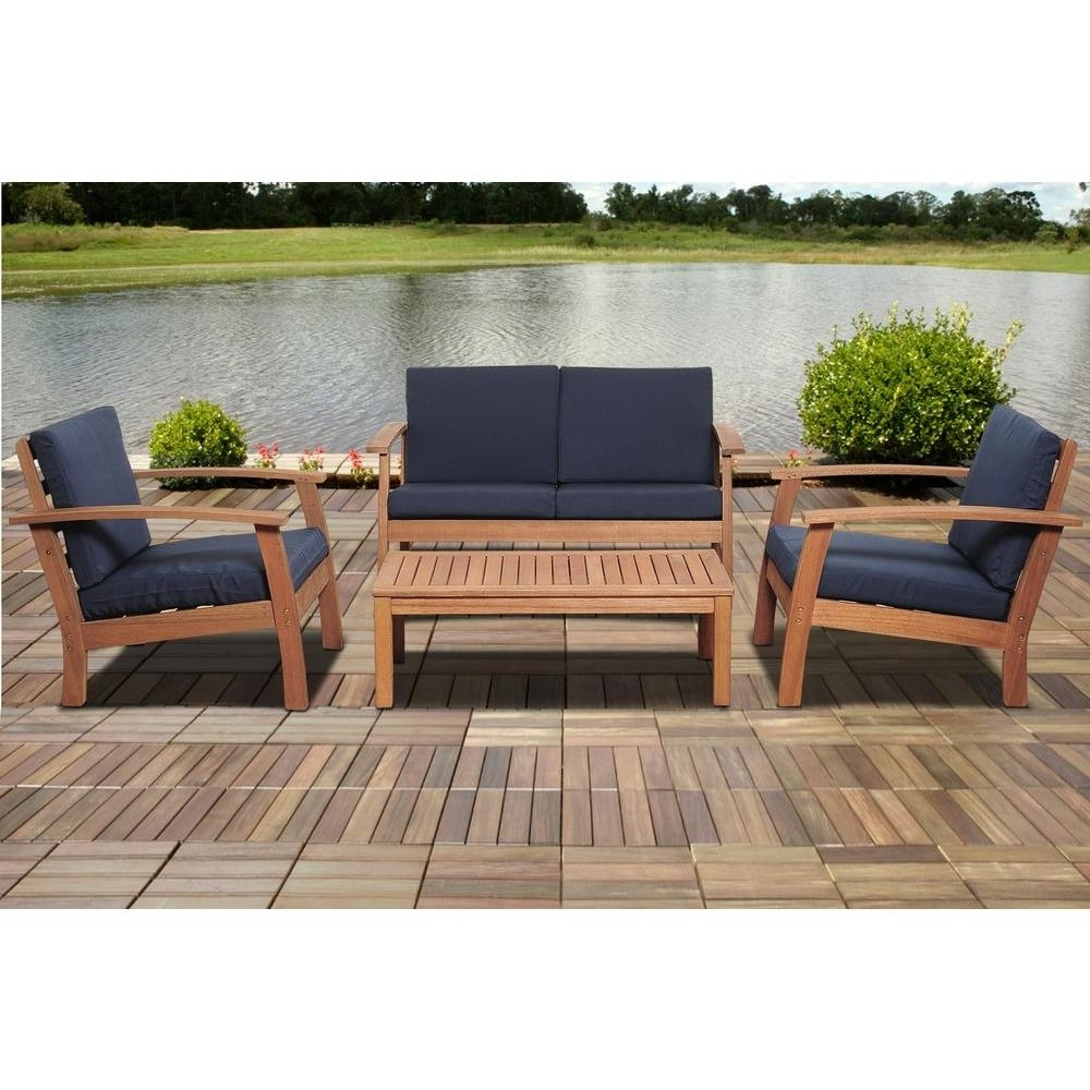 Most Up To Date Patio Table: Wooden Patio Couch (View 10 of 20)