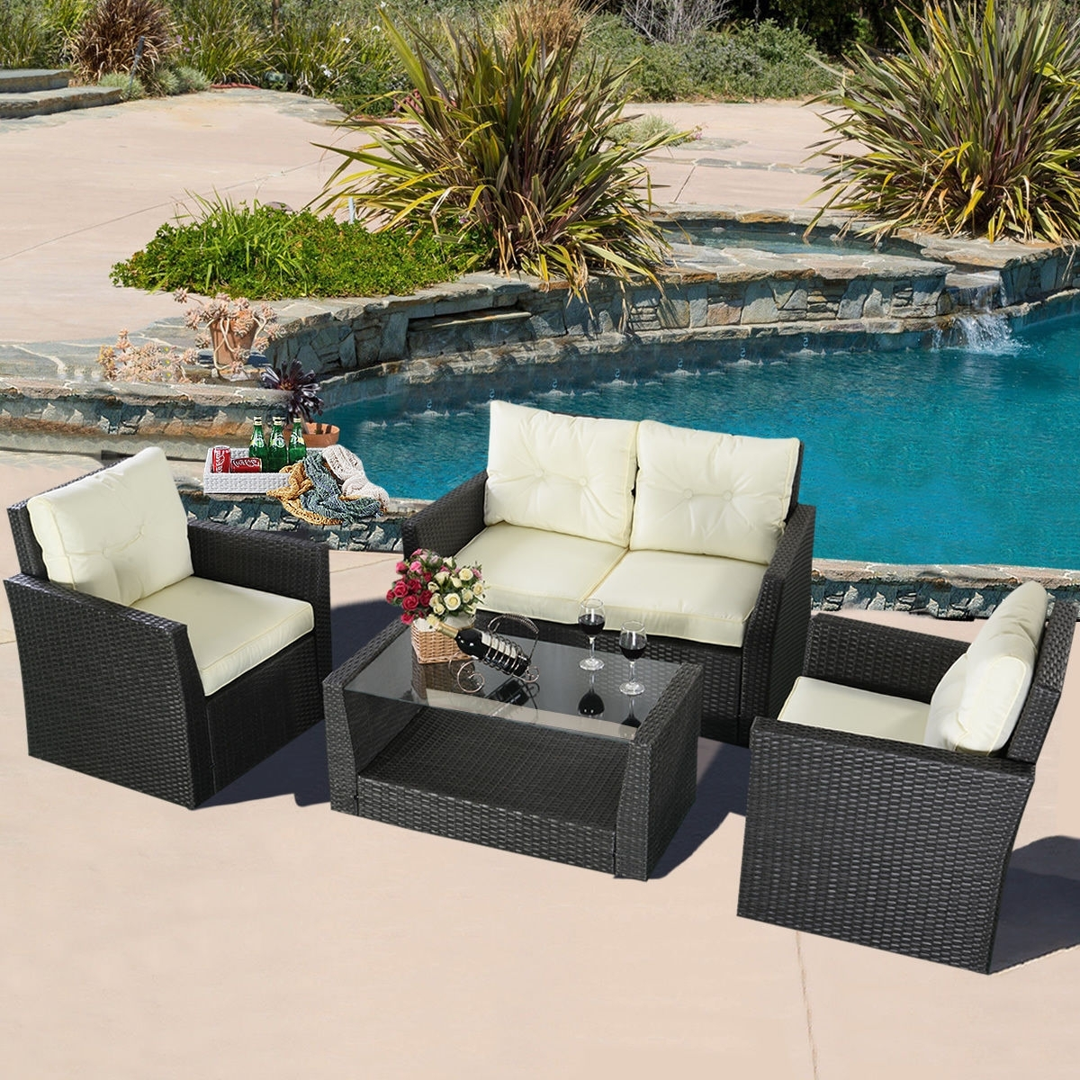 Most Up To Date Pier One Patio Conversation Sets Intended For Gray Wicker Patio Furniture Simple Outdoor Pier One Wicker Porch (View 11 of 20)