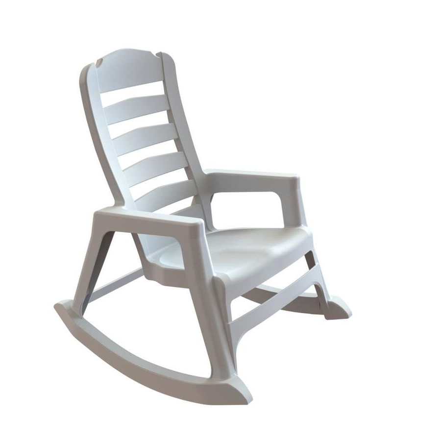 Most Up To Date Shop Adams Mfg Corp Stackable Resin Rocking Chair At Lowes Intended For White Resin Patio Rocking Chairs (View 3 of 20)
