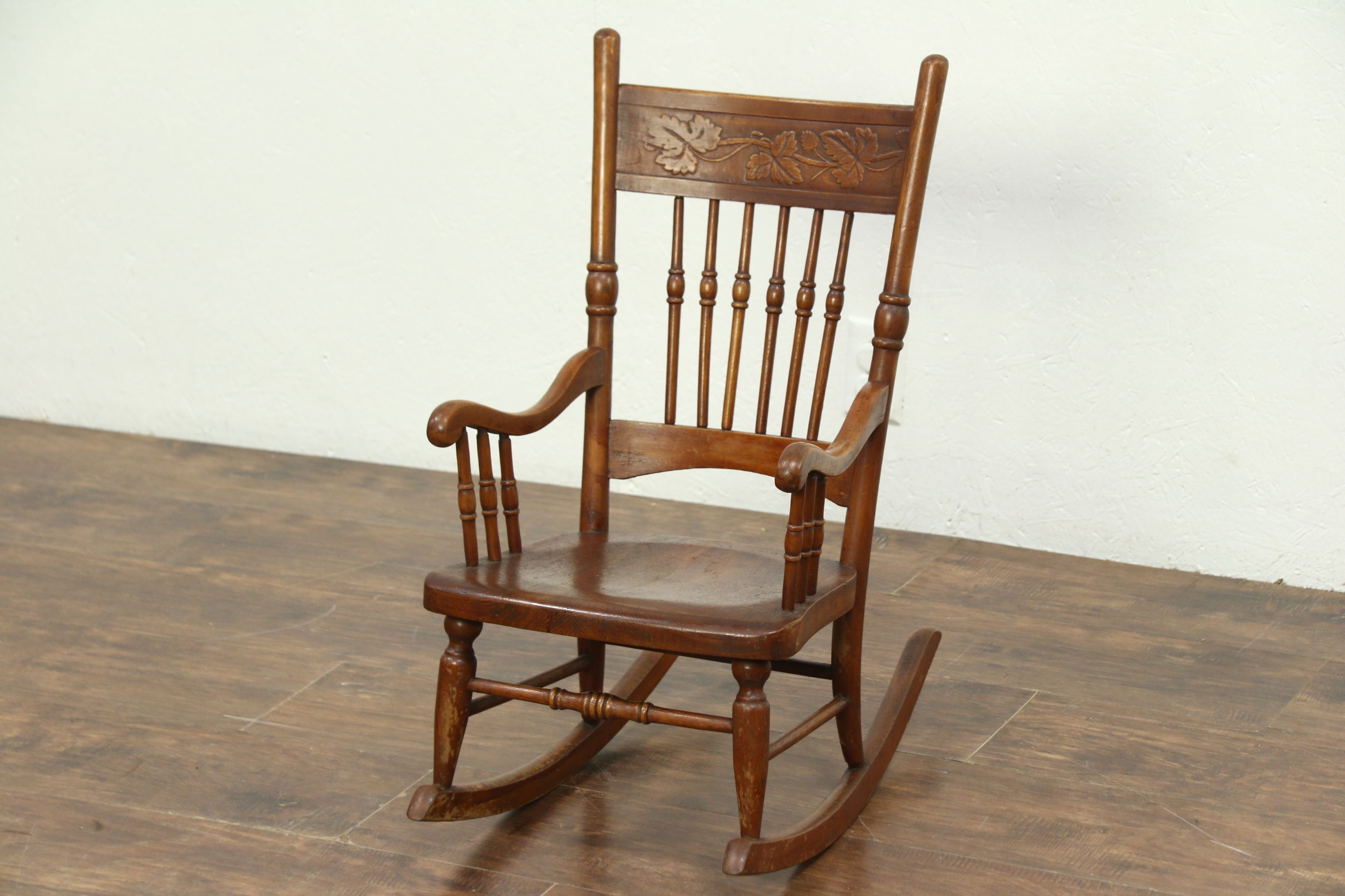 Most Up To Date Sold – Victorian Rocking Chair Press Carved Antique Child Size Intended For Victorian Rocking Chairs (View 4 of 20)