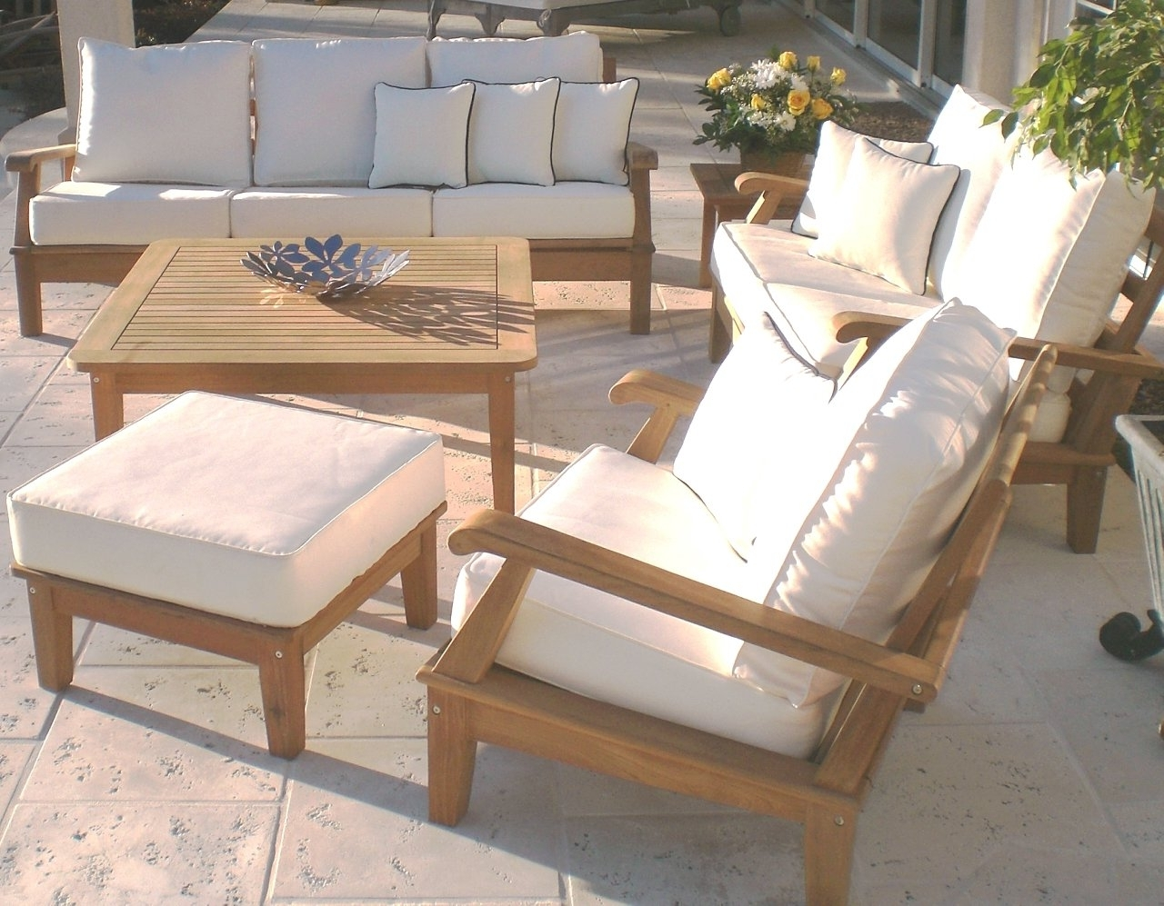 Most Up To Date Teak Patio Conversation Sets Within Beautiful And Cozy Teak Patio Set Furniture — Teak Furnituresteak (View 7 of 20)