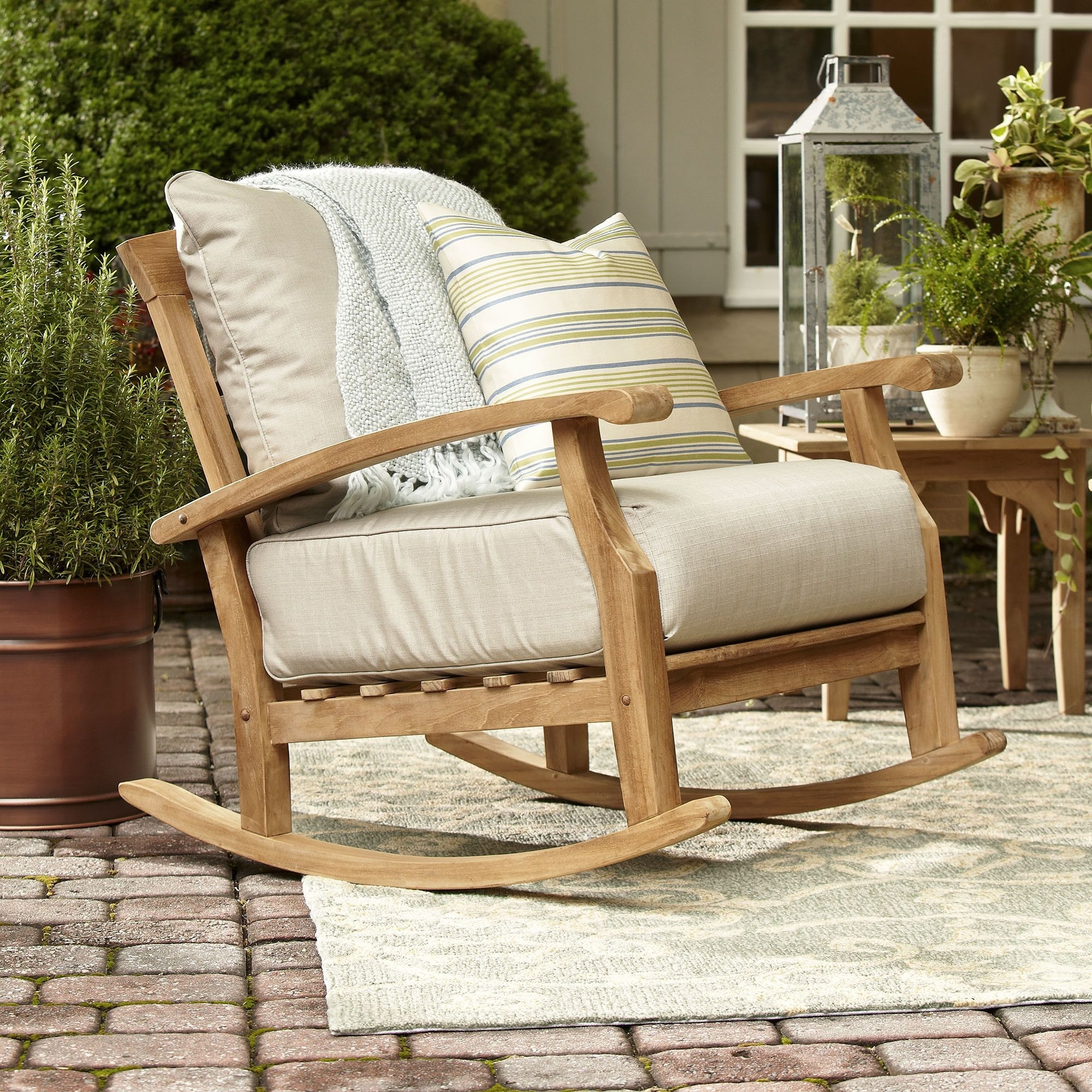 Most Up To Date Teak Patio Rocking Chairs Within Summerton Teak Rocking Chair (View 9 of 20)