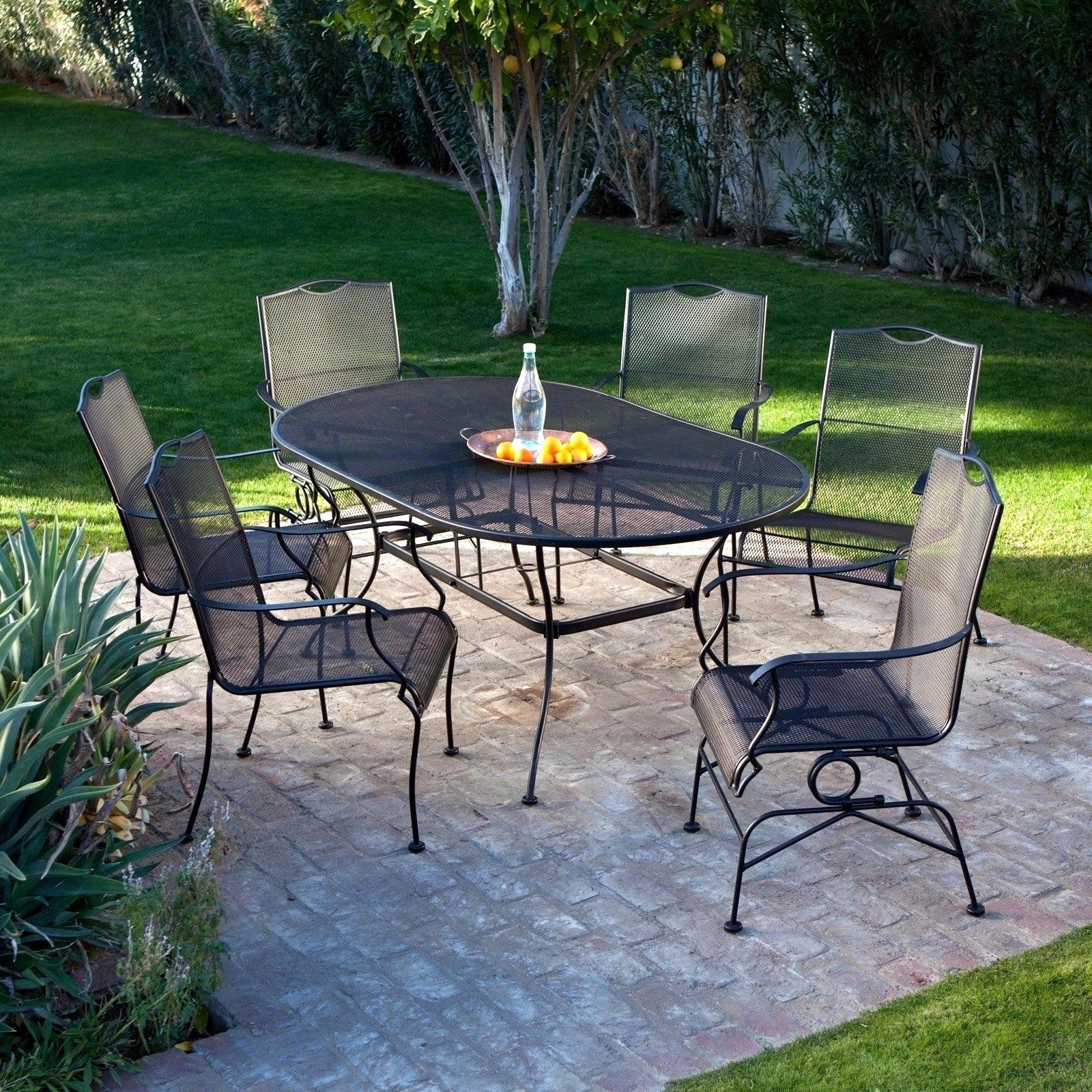 Featured Photo of Wrought Iron Patio Conversation Sets