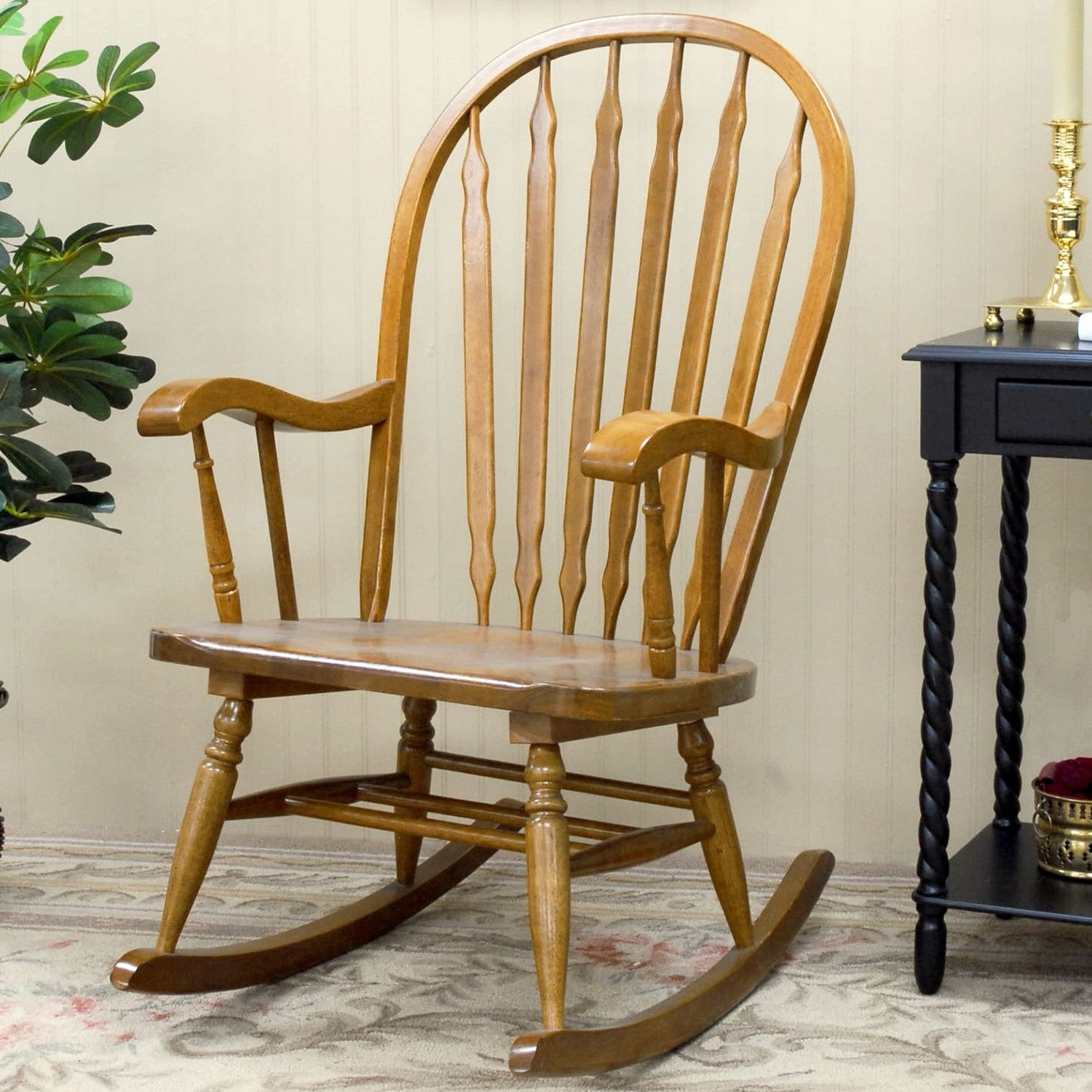 Mural Of Mission Style Rocking Chair: History And Designs In Preferred Rocking Chairs At Wayfair (View 10 of 20)